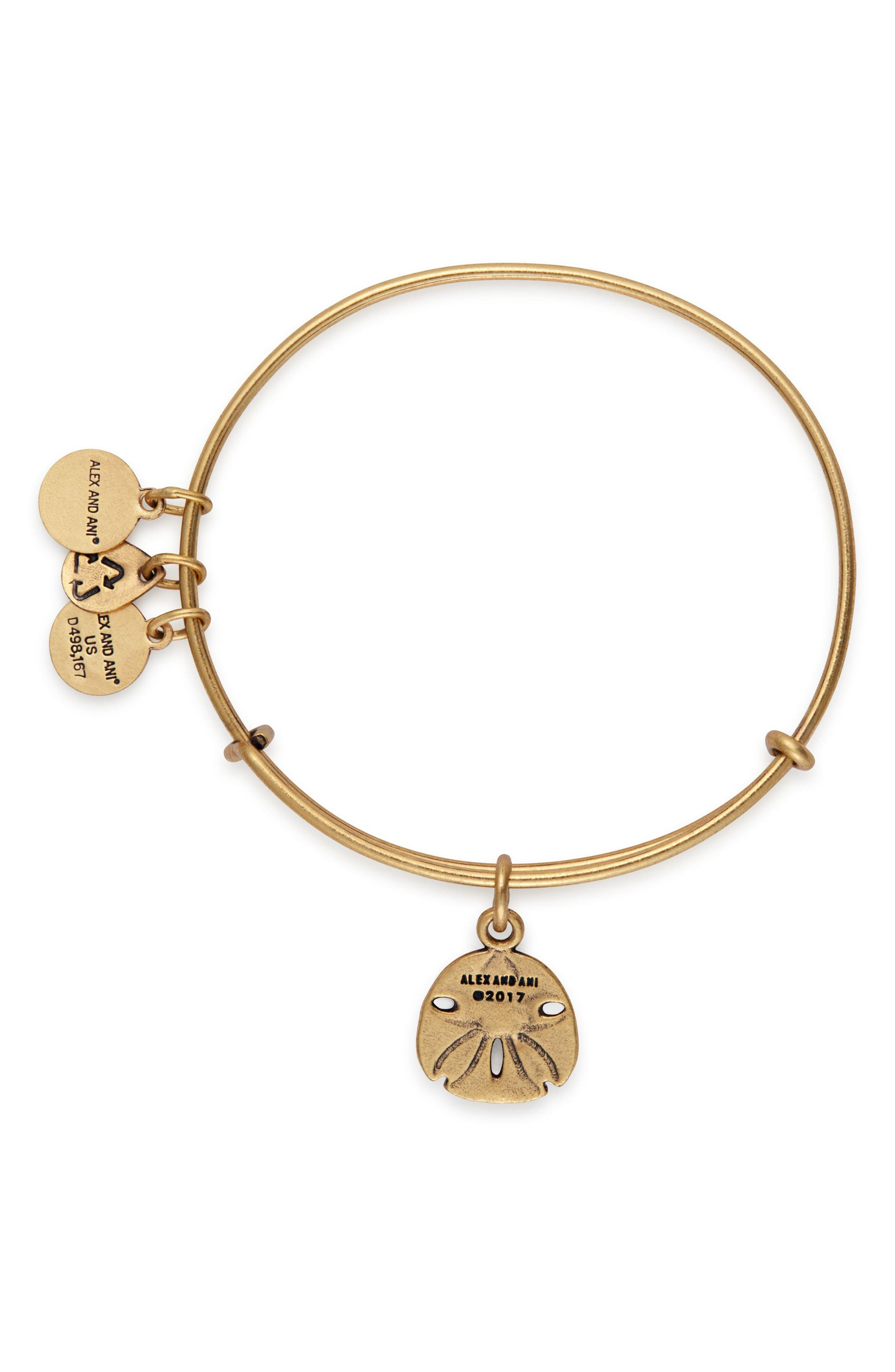 Alternate Image 2  - Alex and Ani Sand Dollar Adjustable Wire Bangle