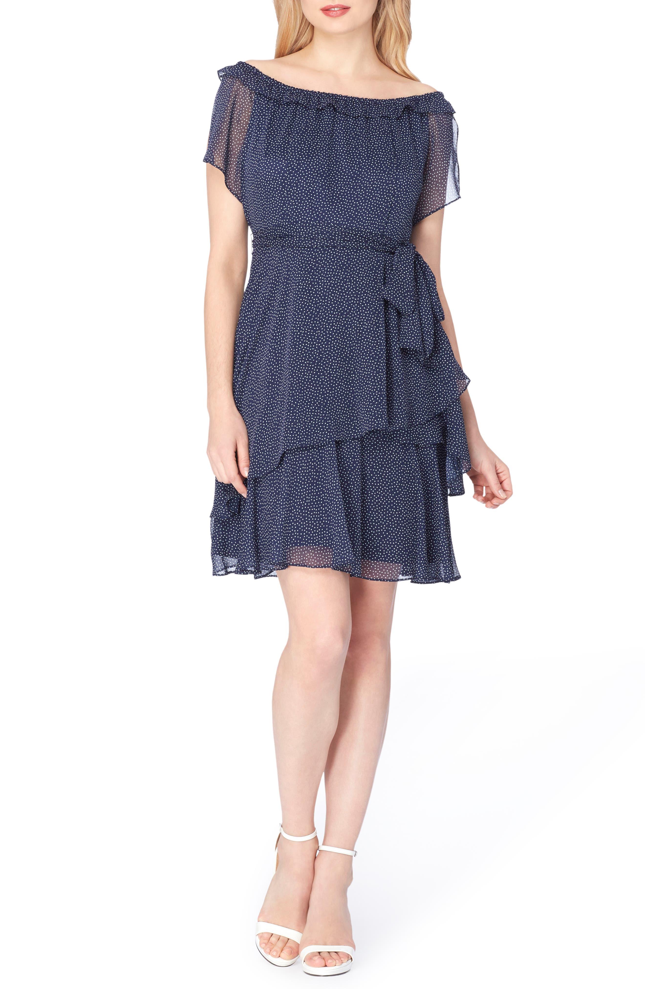 Tahari Tiered Fit & Flare Dress