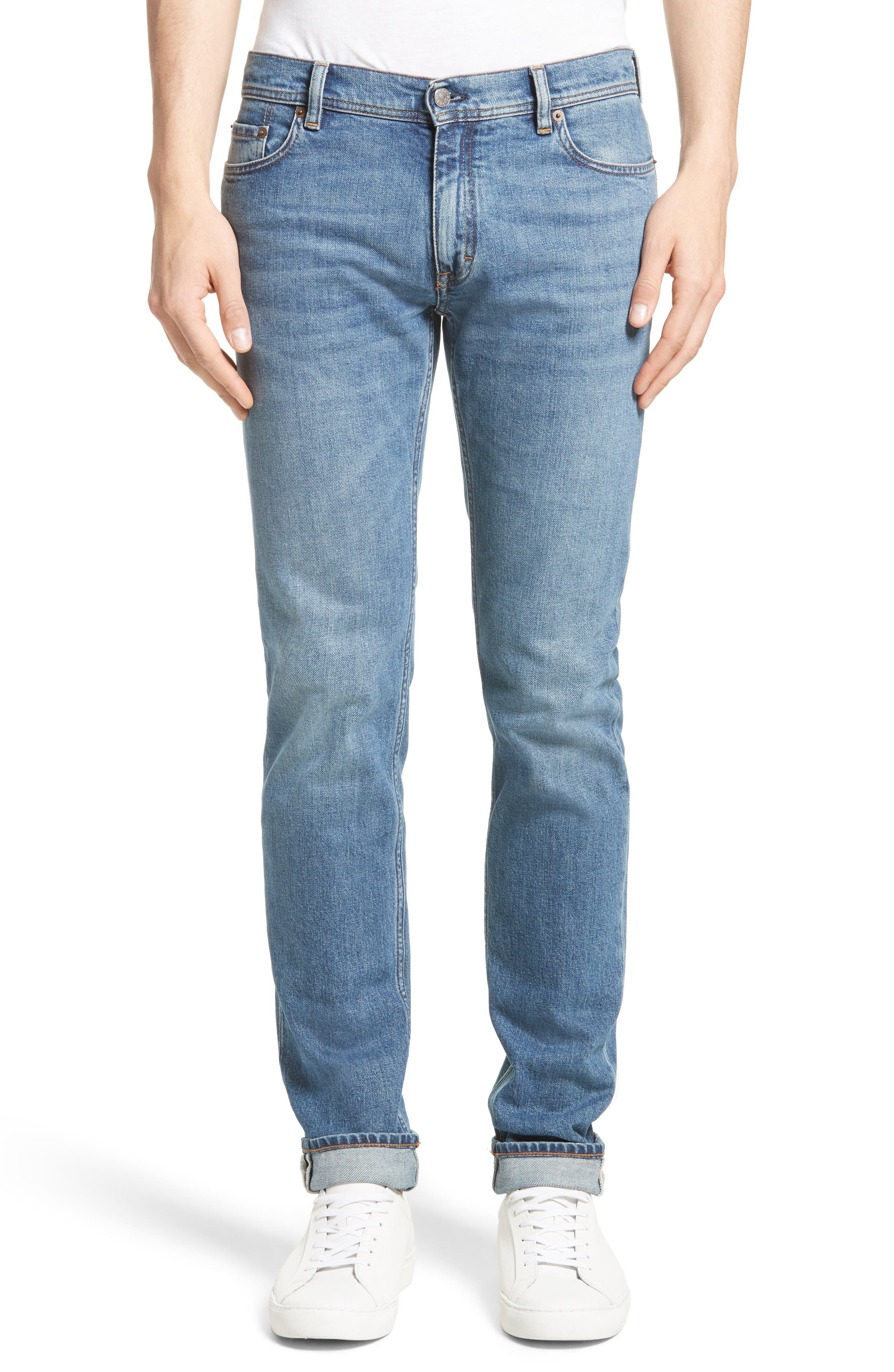 North Skinny Jeans,                         Main,                         color, Mid Blue