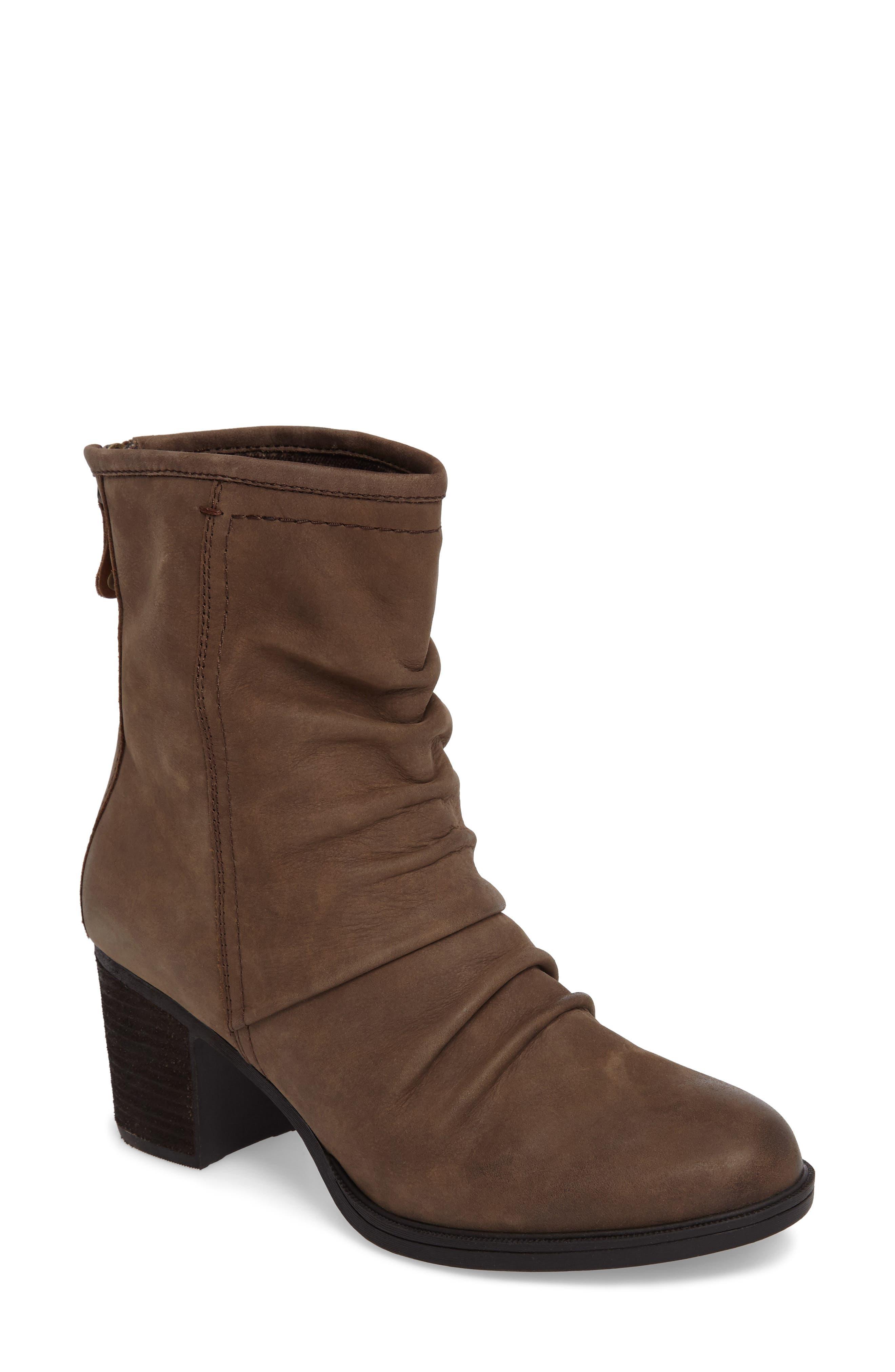 Rockport Cobb Hill Natashya Slouchy Block Heel Bootie (Women)