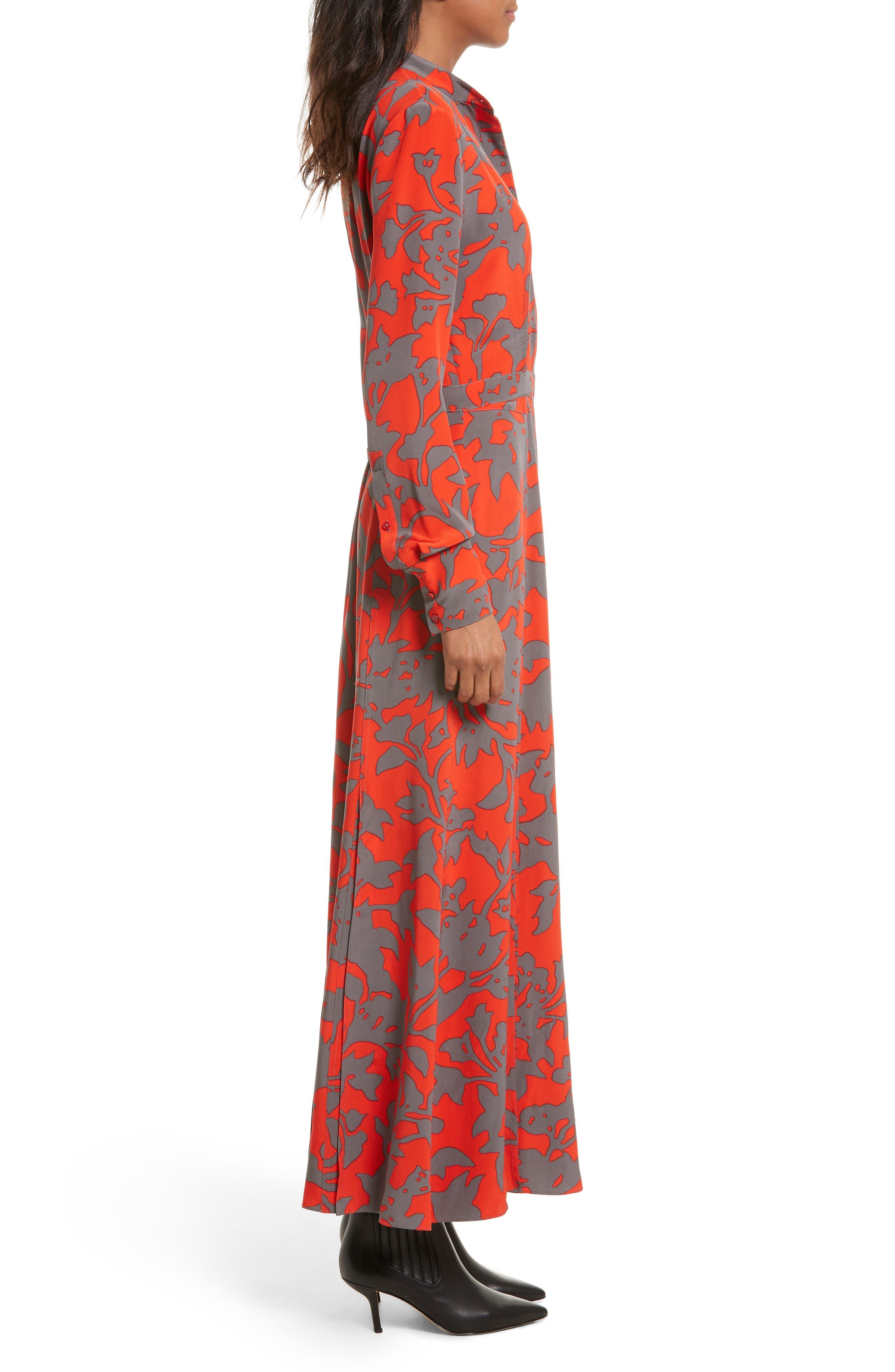 Alternate Image 3  - Diane von Furstenberg Print Silk Maxi Shirtdress