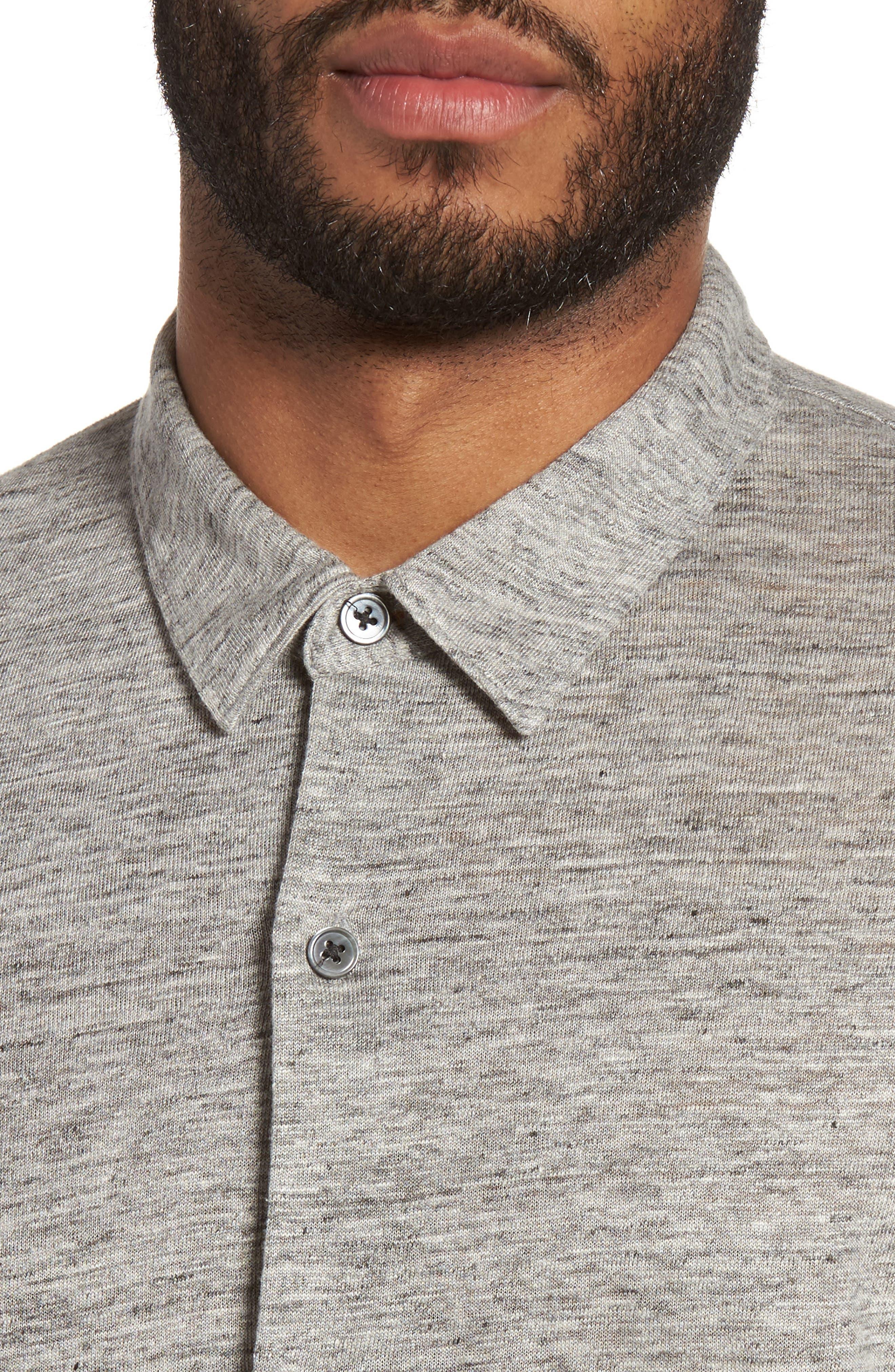 Alternate Image 4  - Theory Linen Knit Sport Shirt