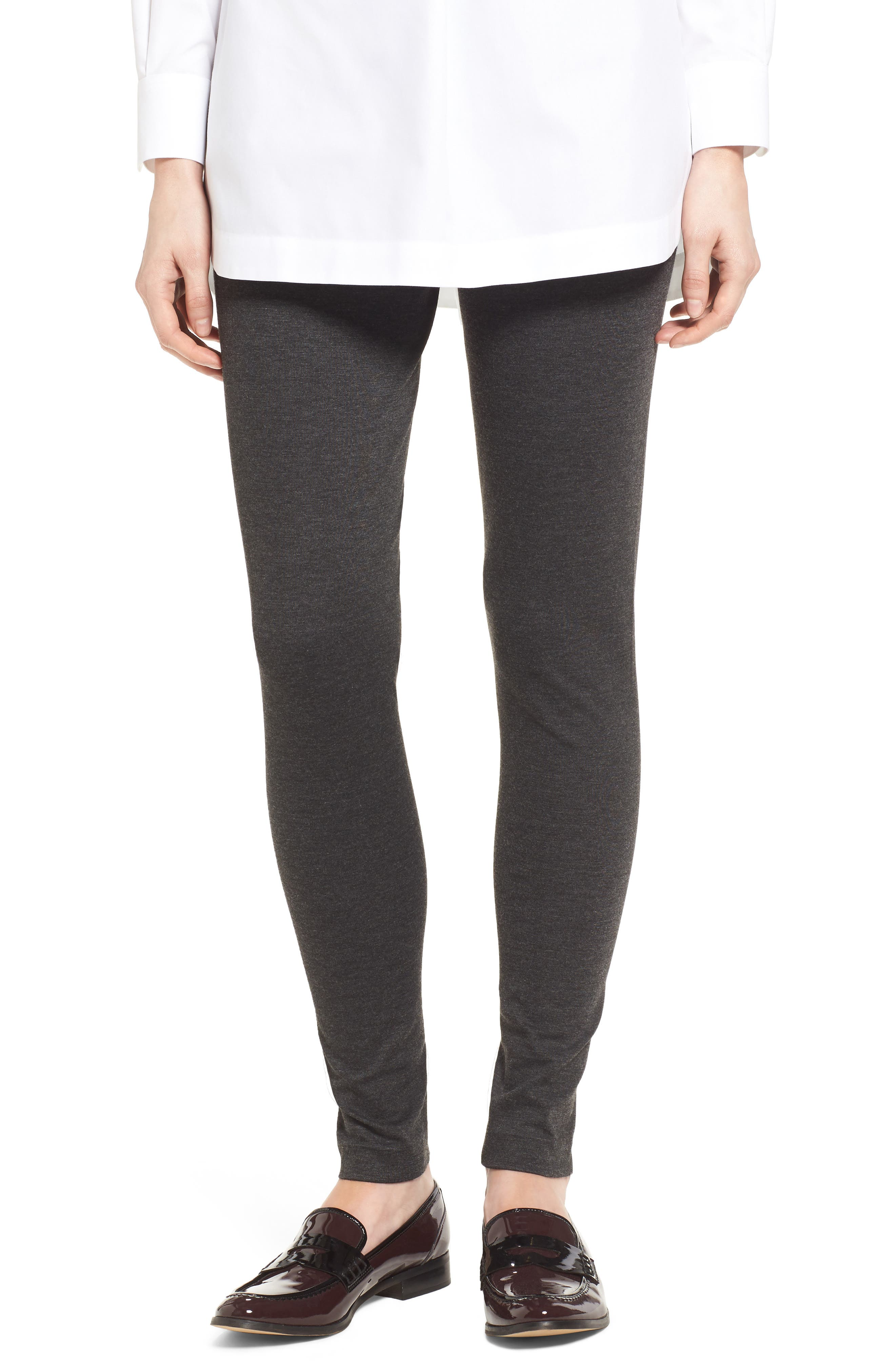 TWO BY VINCE CAMUTO Seamed Back Leggings in Dark Heather Grey