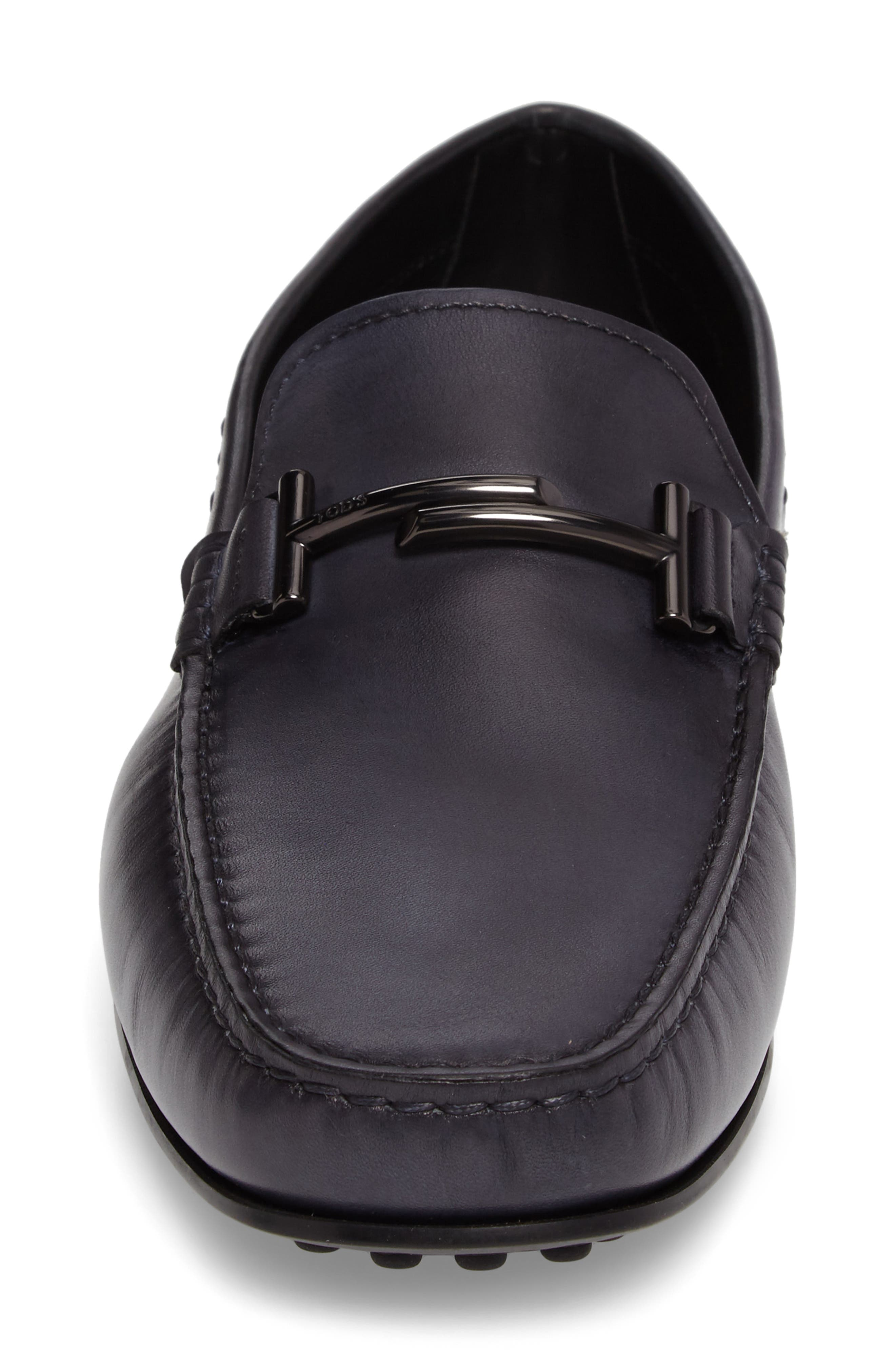 Gommini Driving Shoe,                             Alternate thumbnail 4, color,                             Dark Grey Leather
