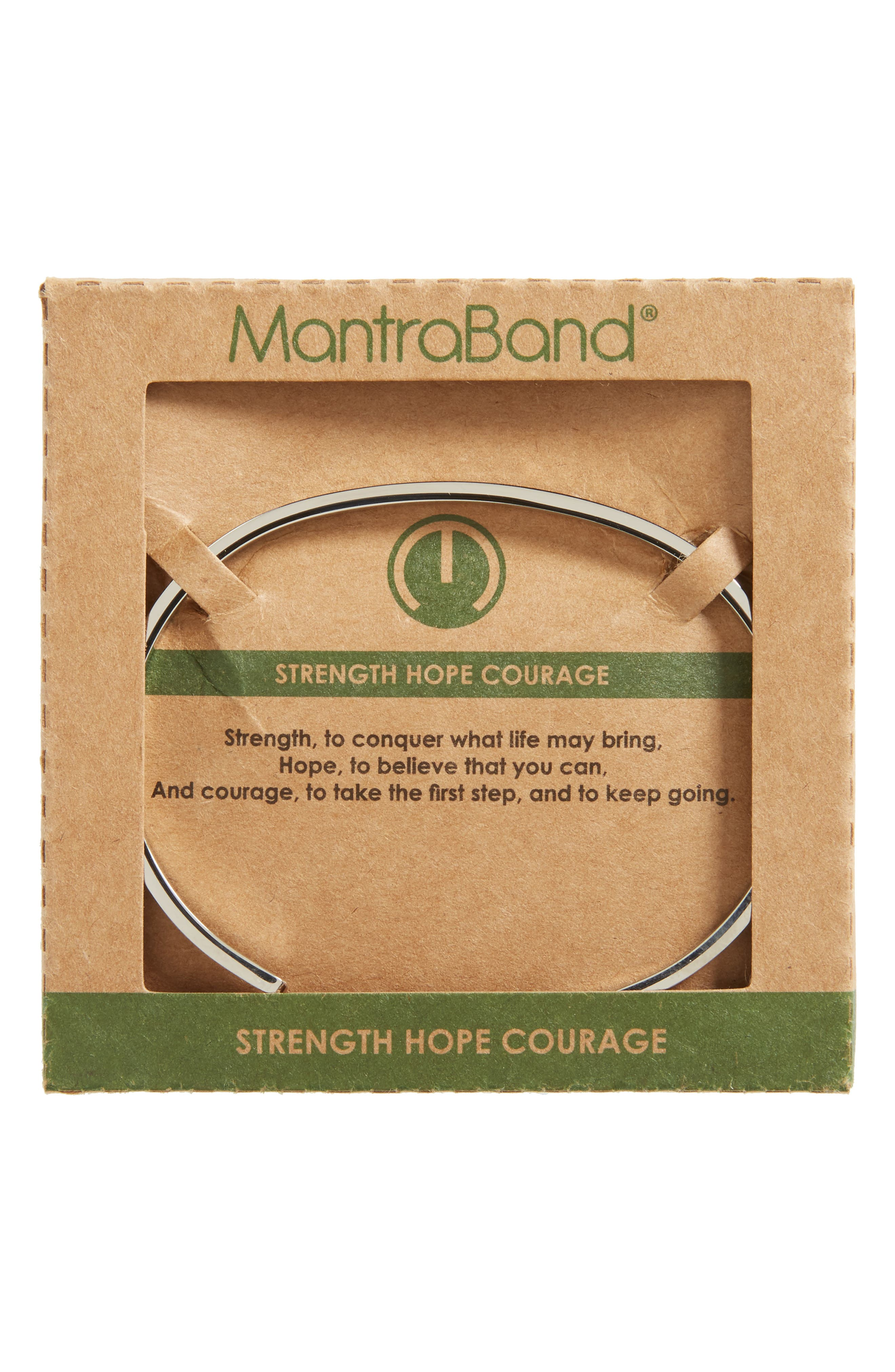 Alternate Image 1 Selected - MantraBand Strength Hope Courage Engraved Cuff
