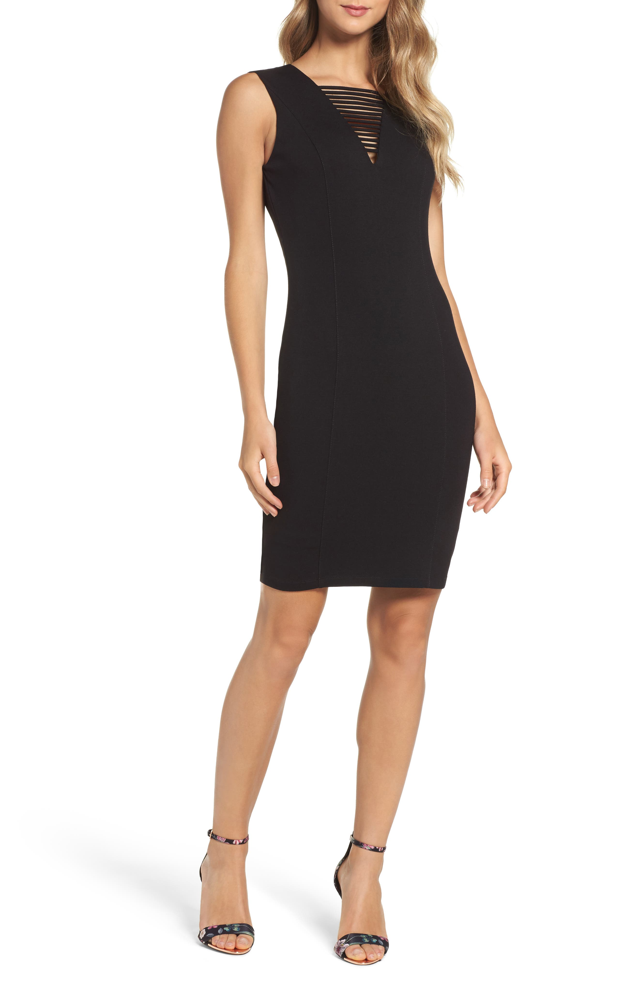 Ali & Jay Ponte Sheath Dress