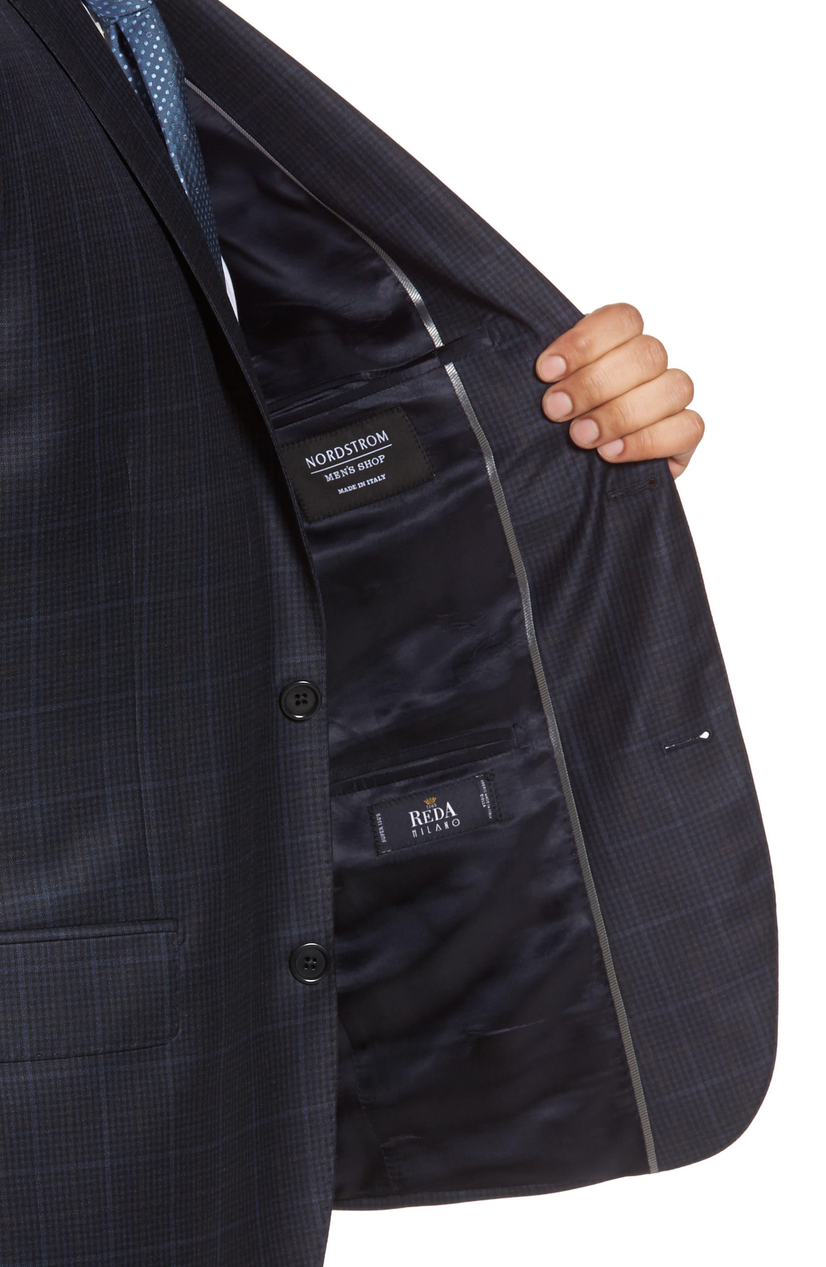Alternate Image 4  - Nordstrom Men's Shop Classic Fit Plaid Wool Sport Coat