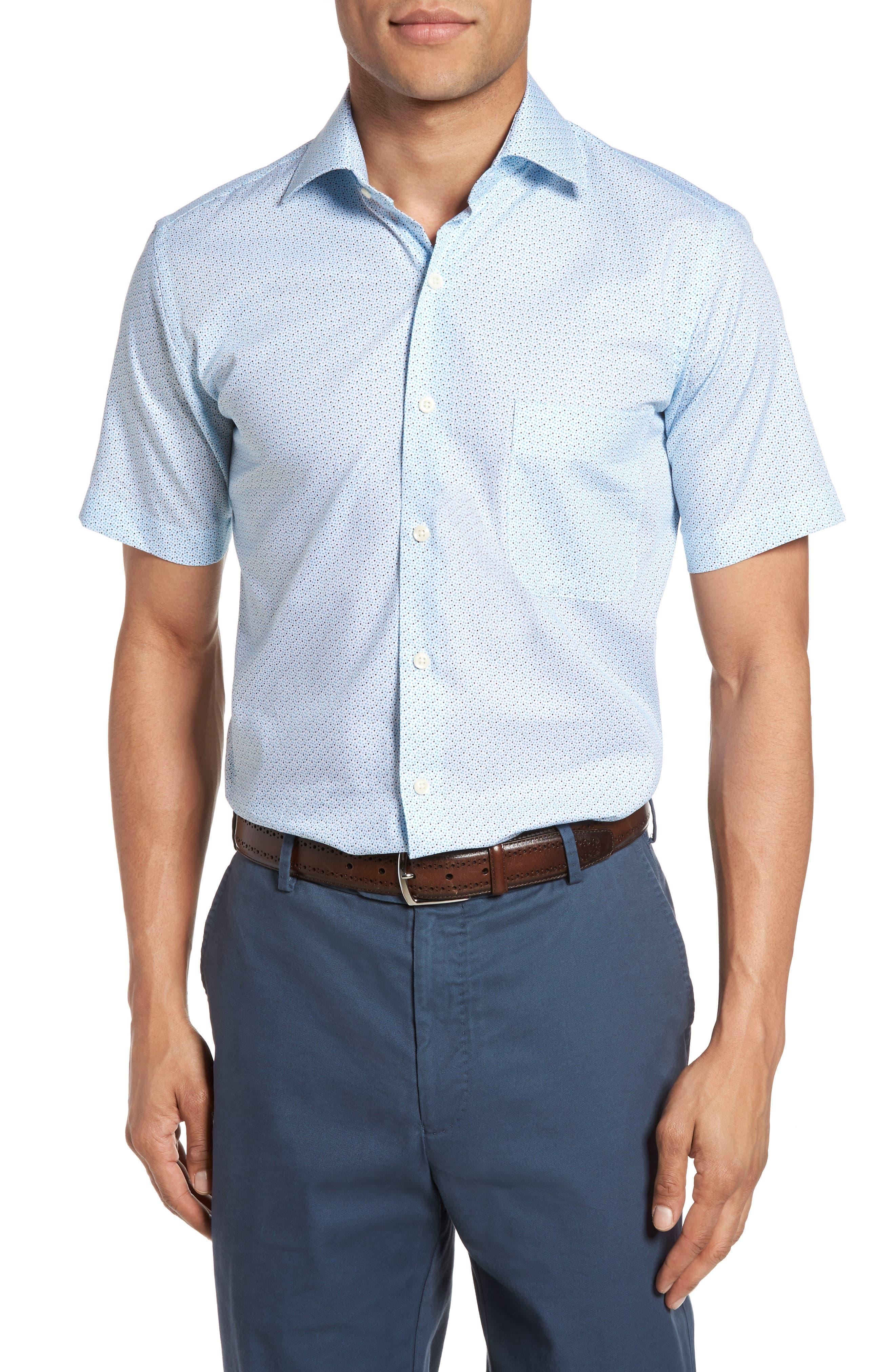 Peter Millar Regular Fit Sirocco Print Sport Shirt