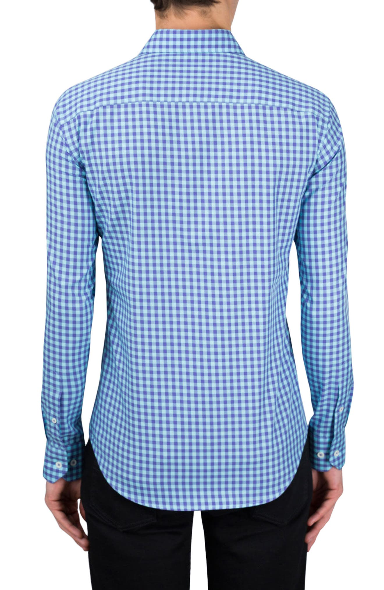 Alternate Image 2  - Bugatchi Classic Fit Gingham Sport Shirt