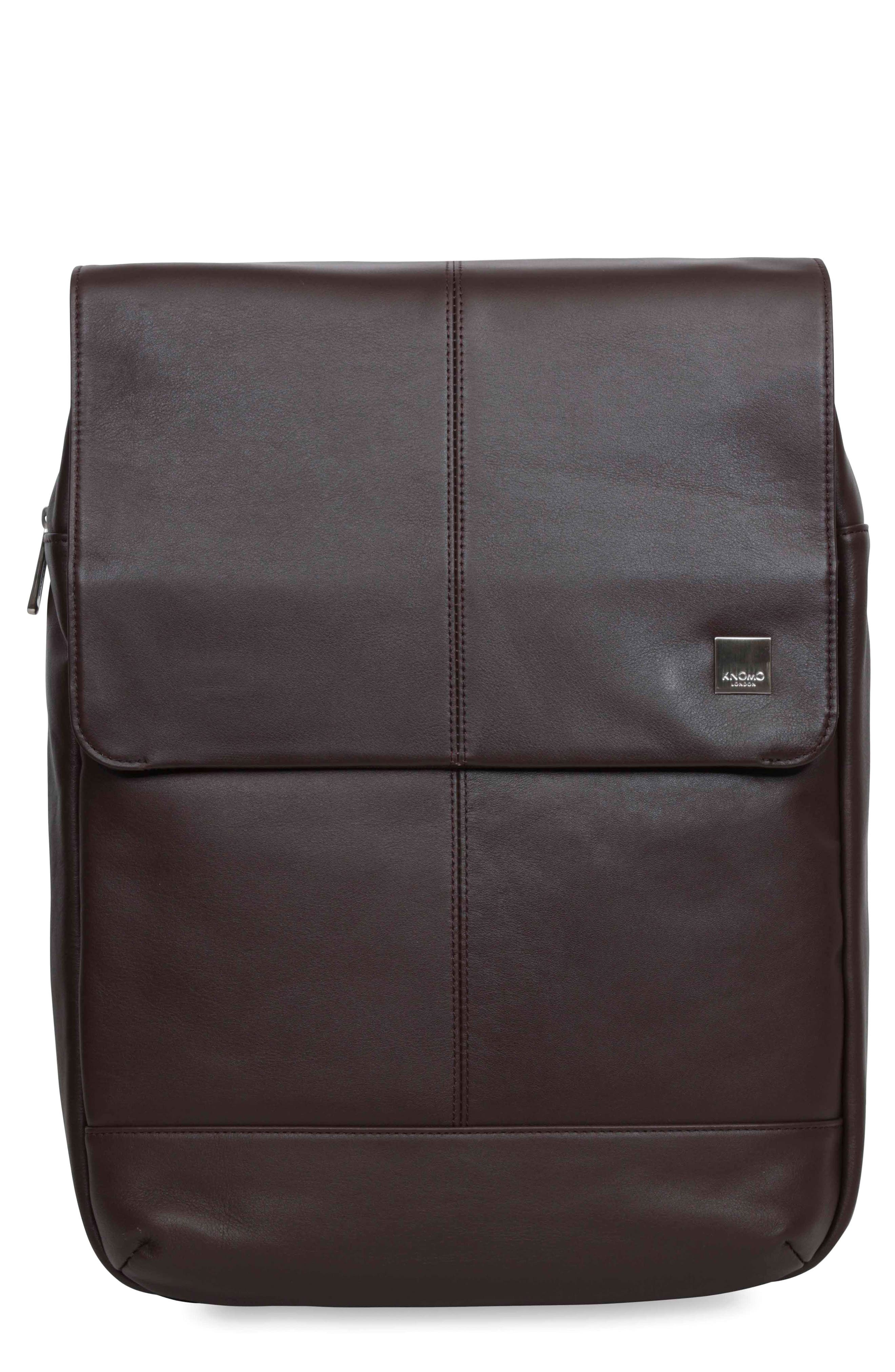 KNOMO LONDON Brompton Hudson Leather Backpack