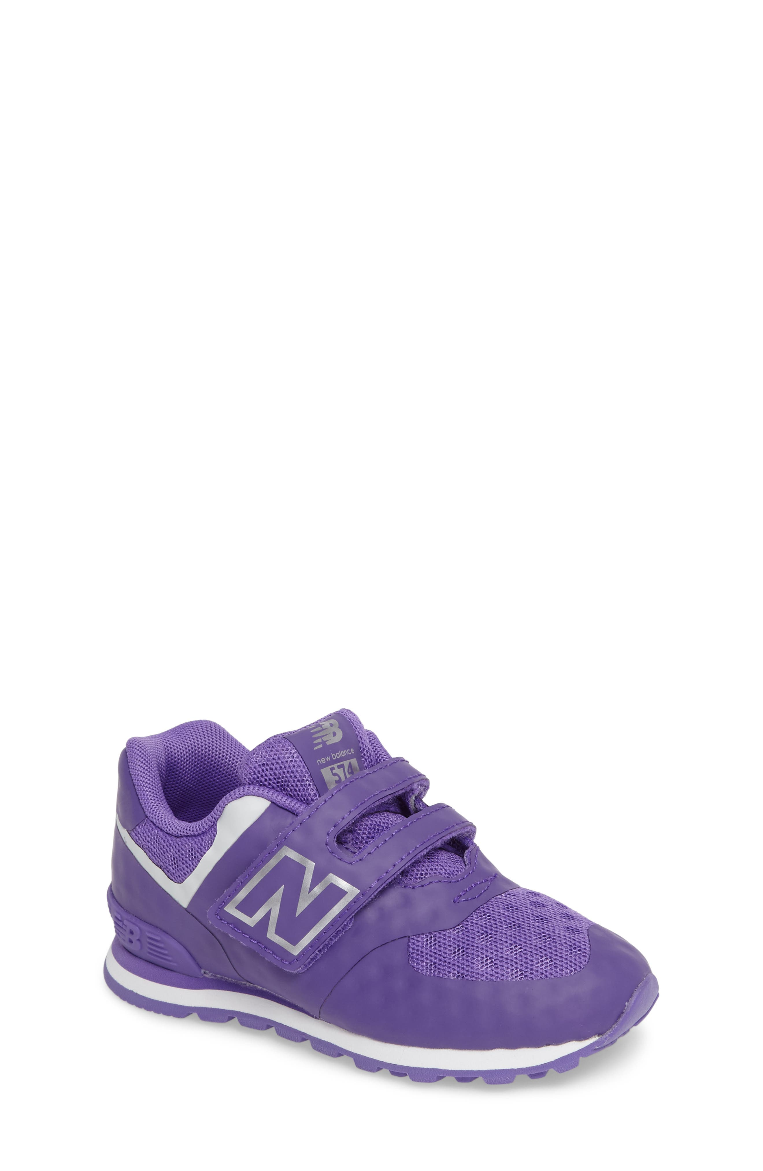 new balance 574 purple yellow