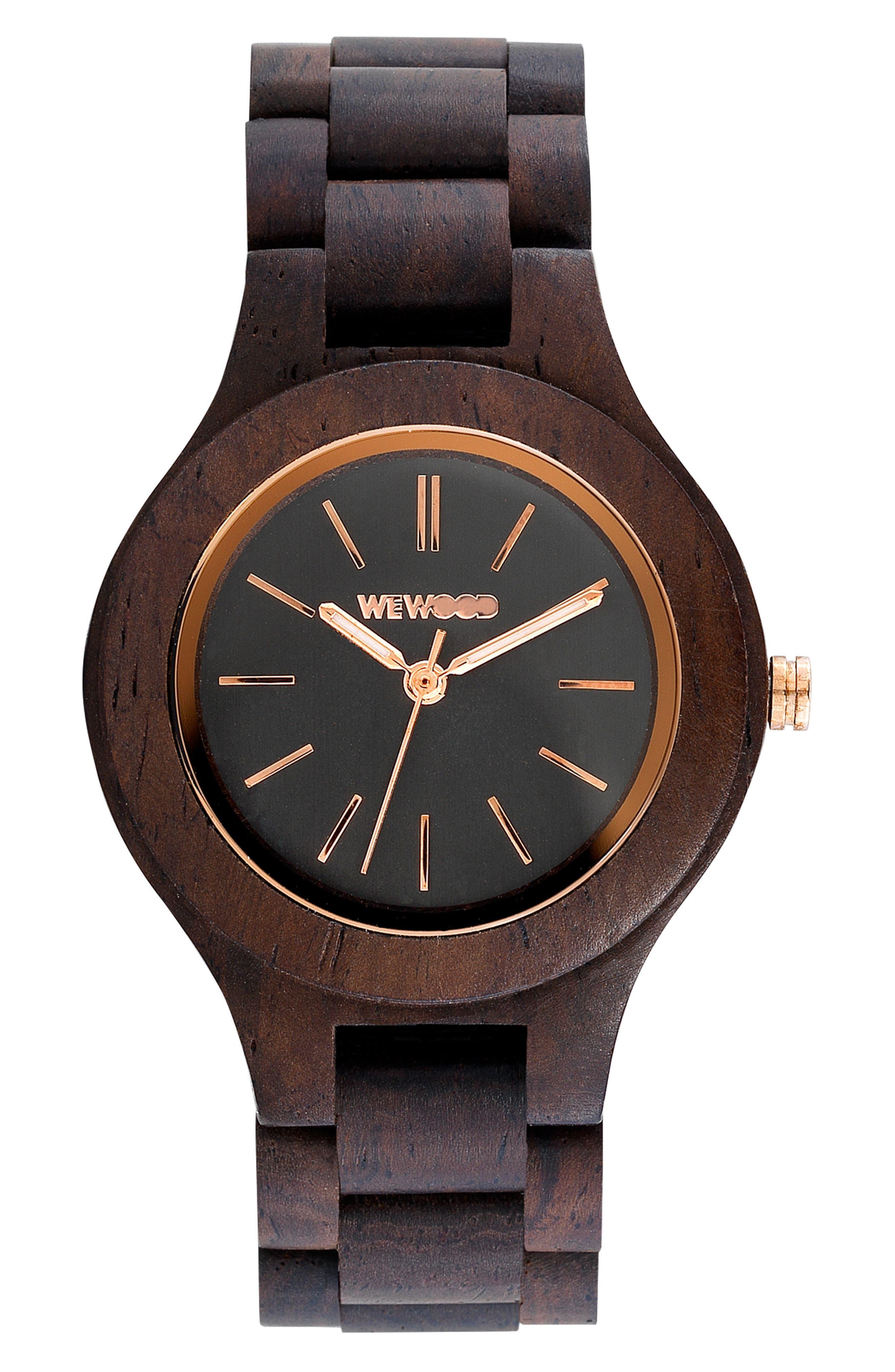 Antea Wood Bracelet Watch, 36mm,                             Main thumbnail 1, color,                             Brown