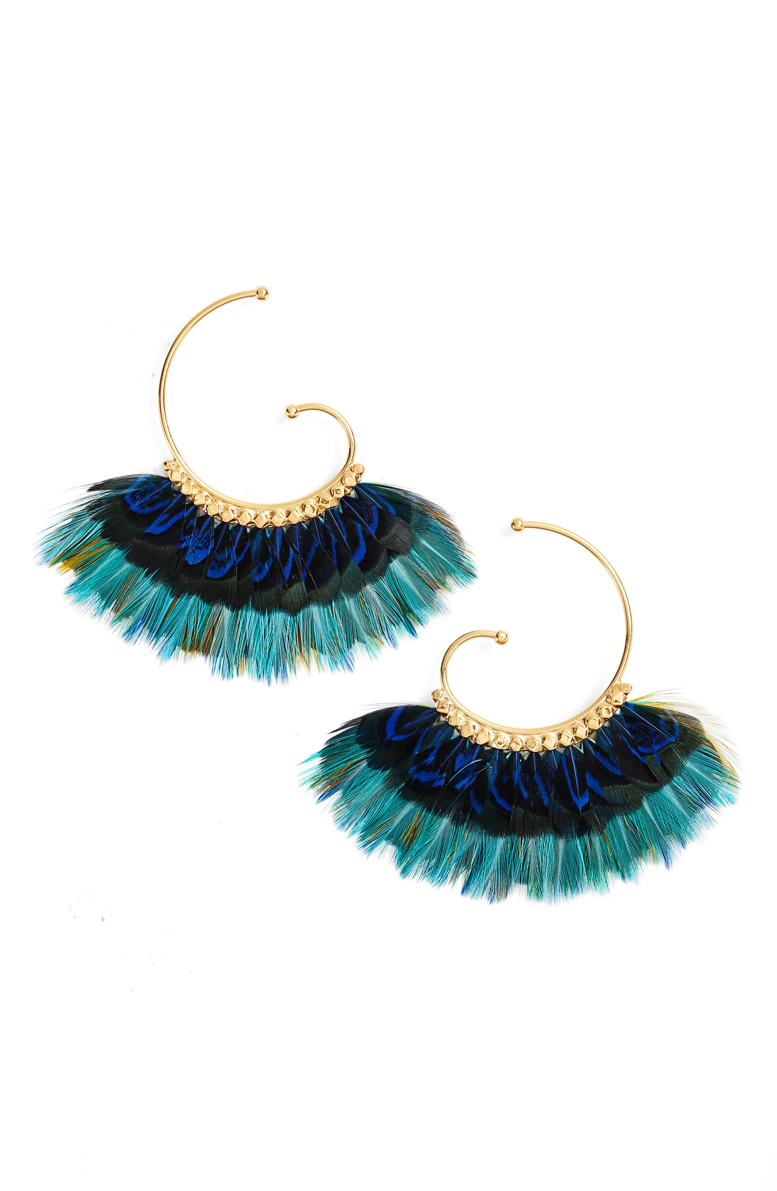 Alternate Image 1 Selected - Gas Bijoux 'Buzios' Feather Earrings