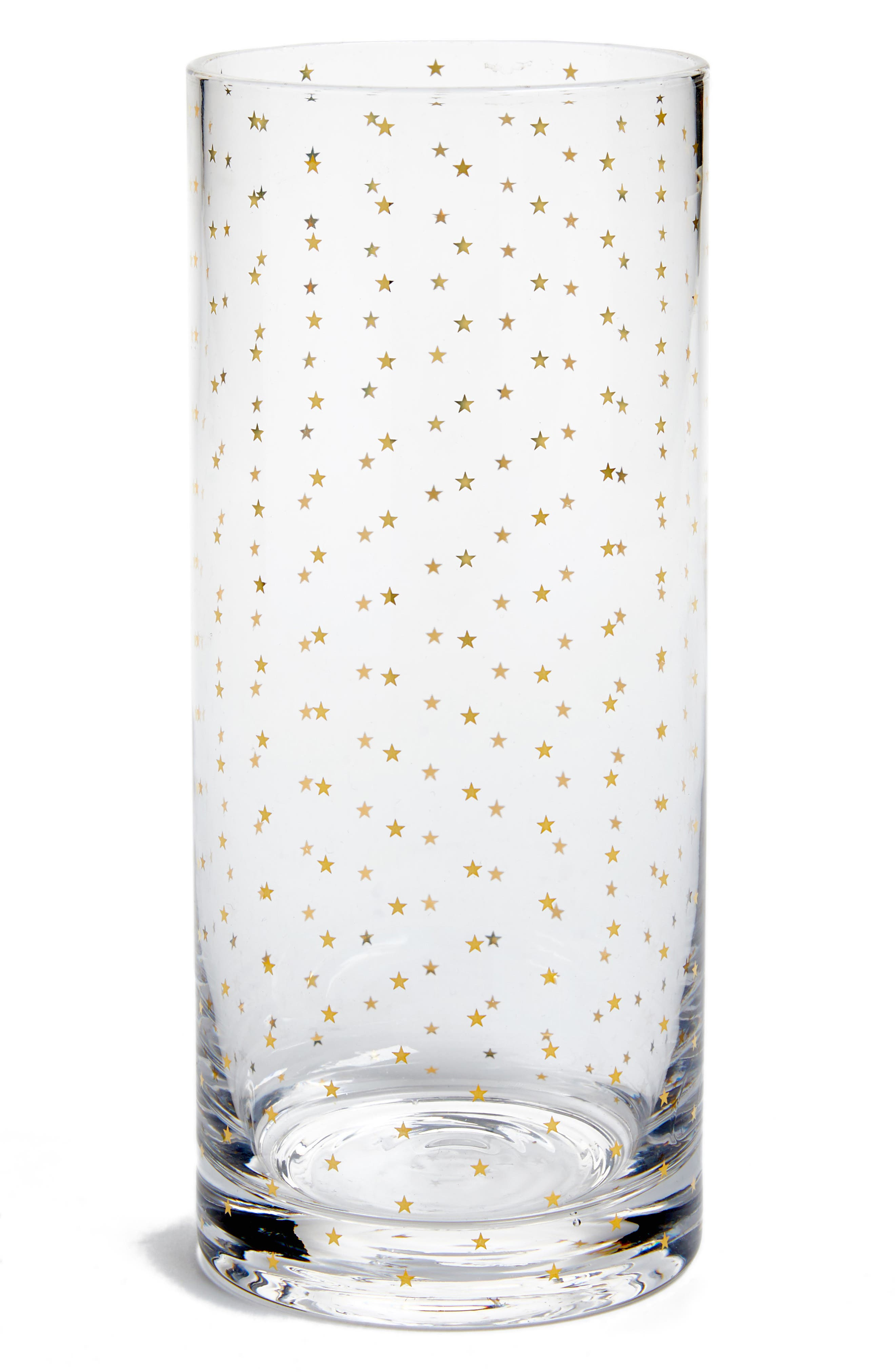Star Print Drinking Glass,                         Main,                         color, Stars