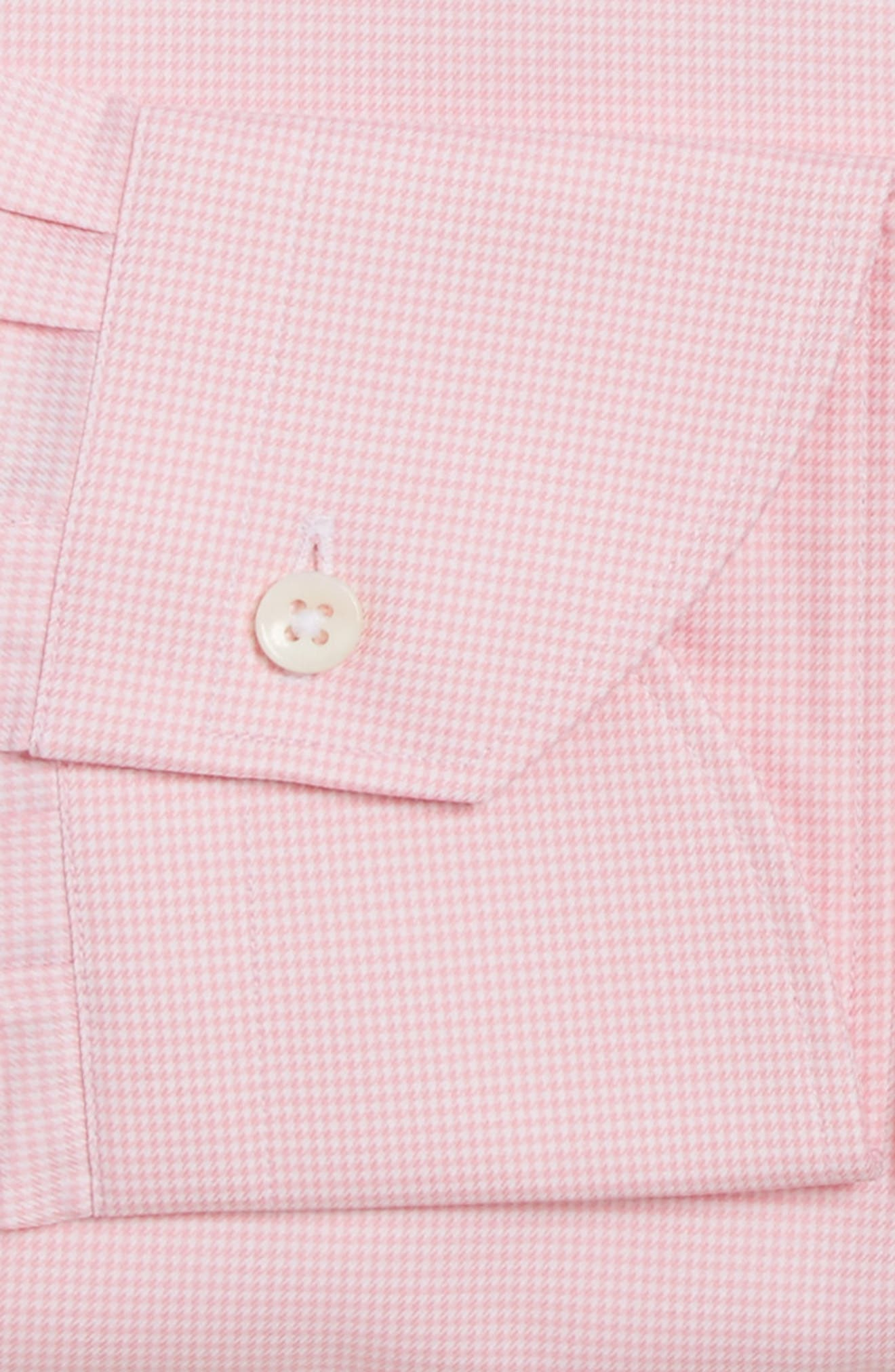 Alternate Image 4  - Canali Regular Fit Houndstooth Dress Shirt