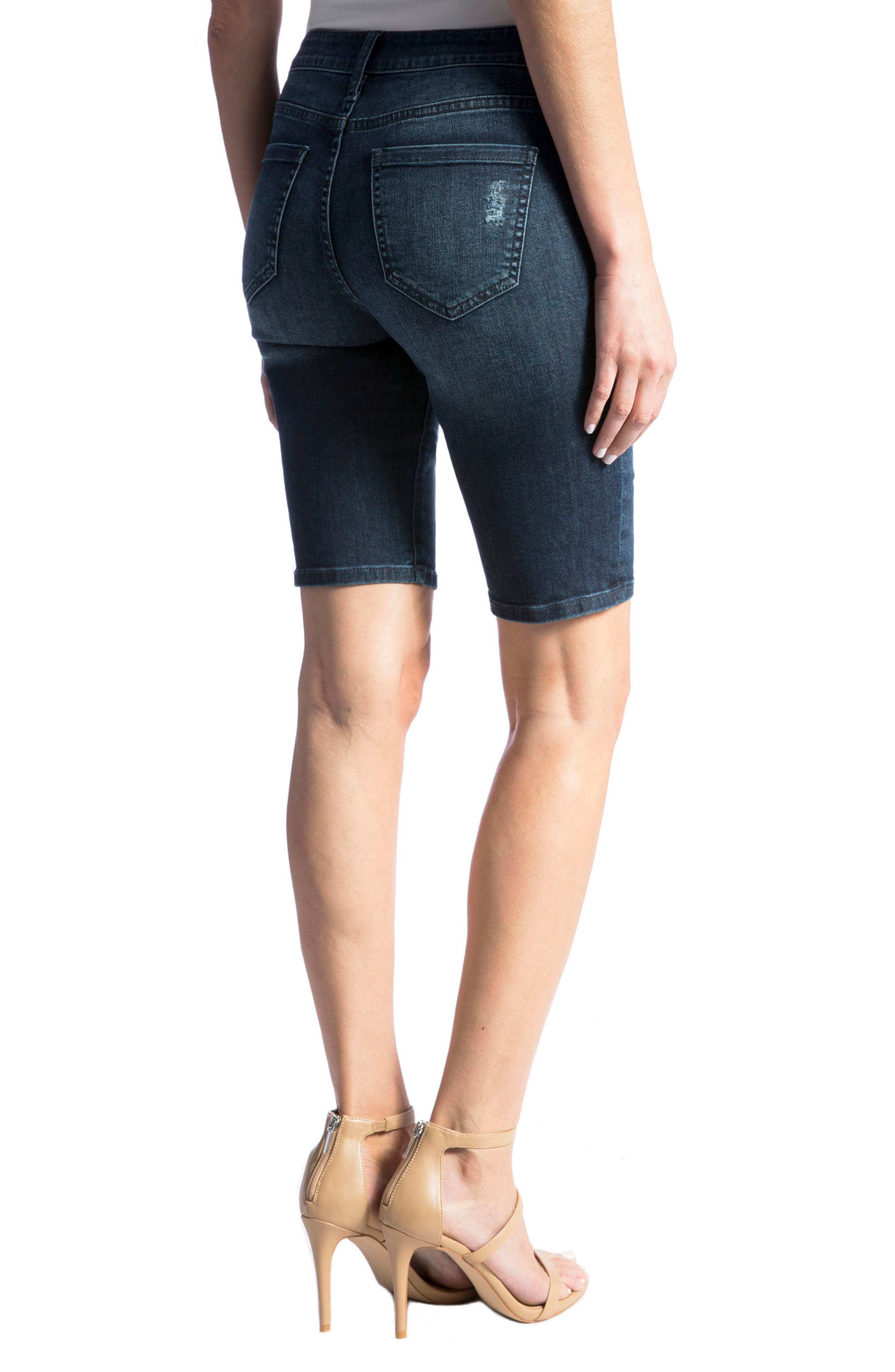 Alternate Image 4  - Liverpool Jeans Company Bobbi Denim Bermuda Shorts