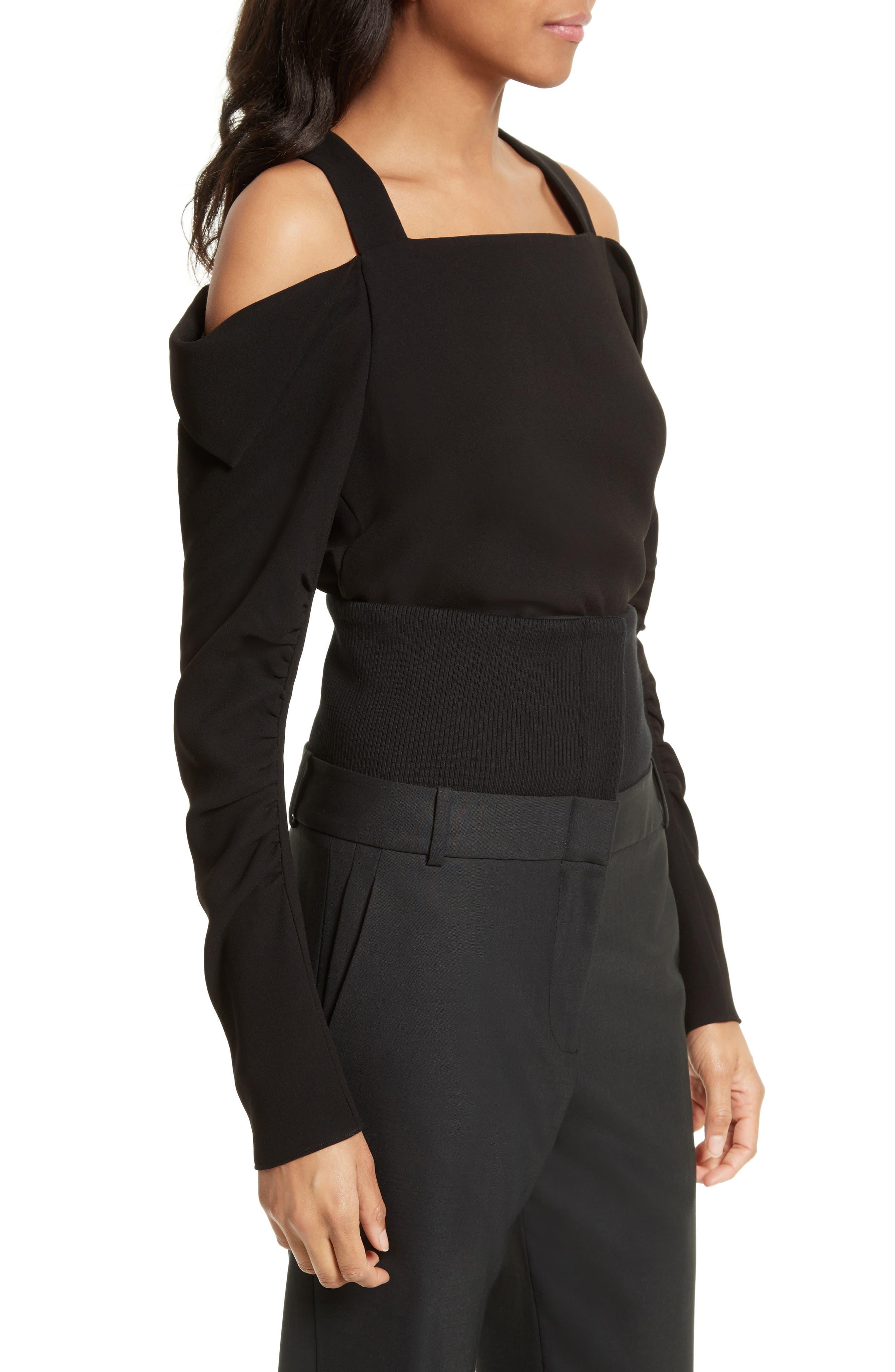 Alternate Image 3  - Tibi Crepe Open Shoulder Top