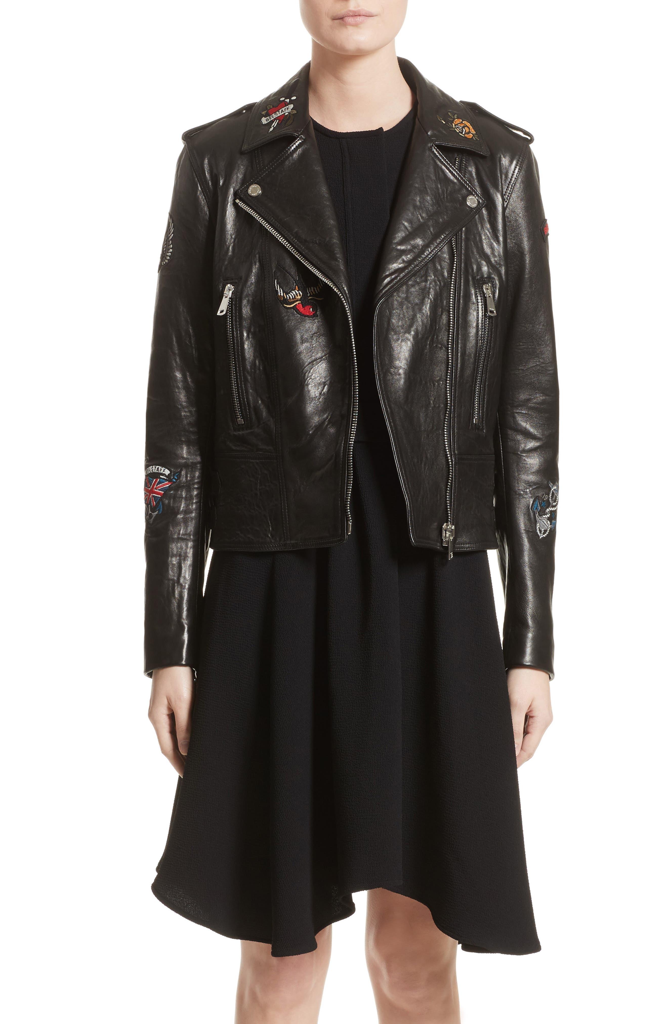 Main Image - Belstaff Mariner Marving-T Leather Moto Jacket