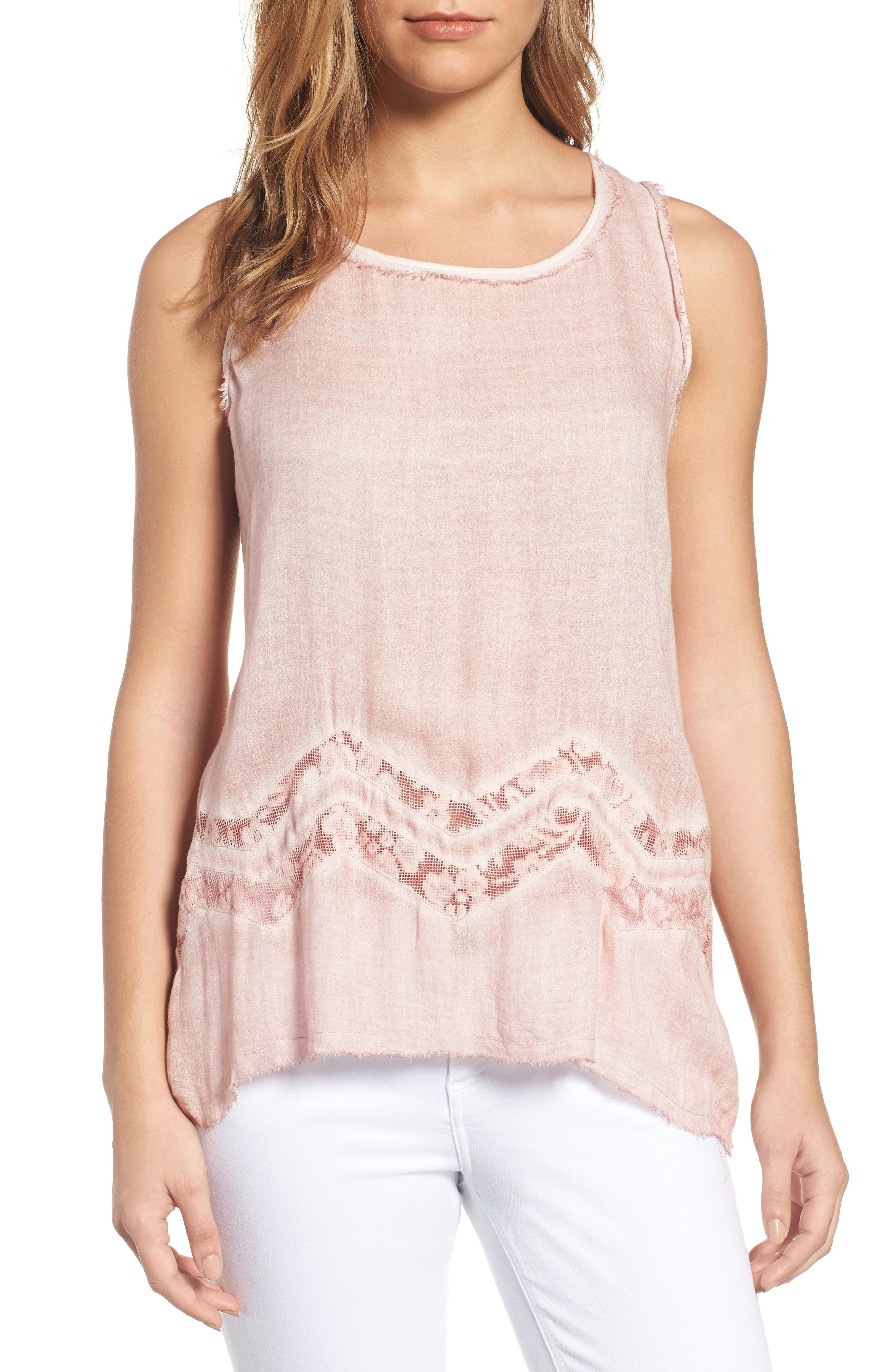 Woven Tank,                         Main,                         color, Dusty Pink