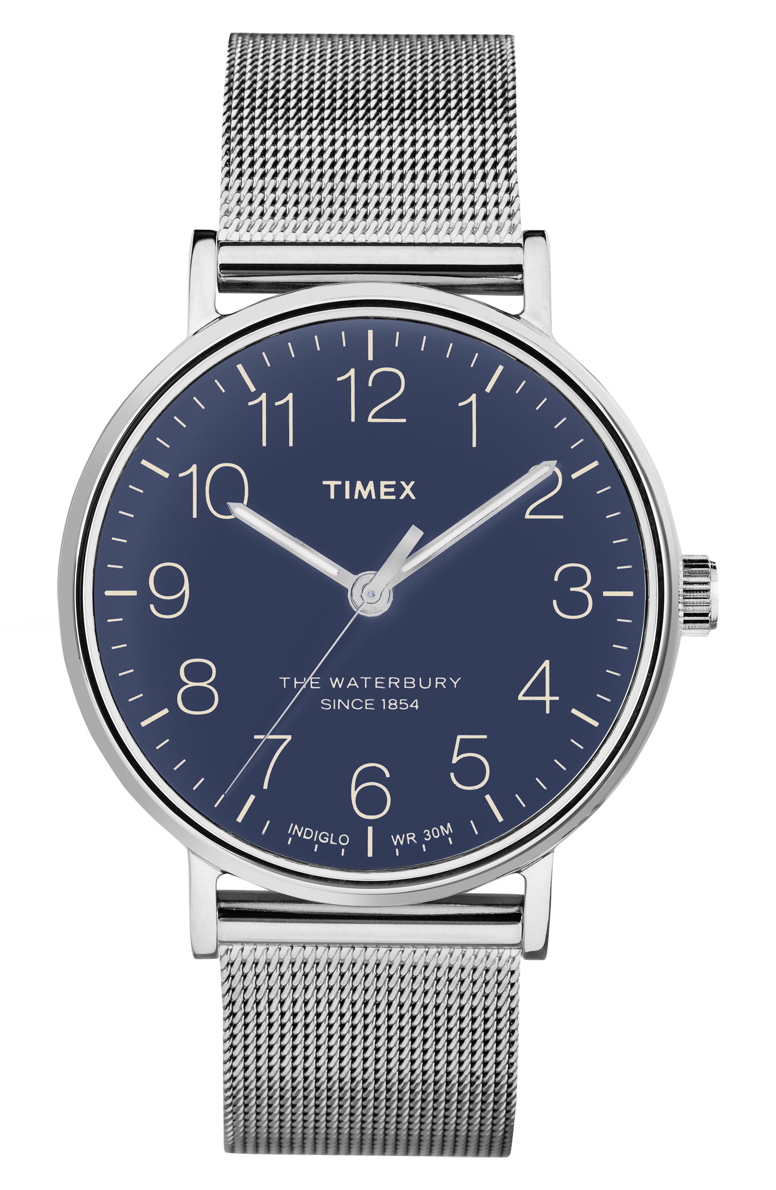 Timex® Waterbury Mesh Strap Watch, 40mm