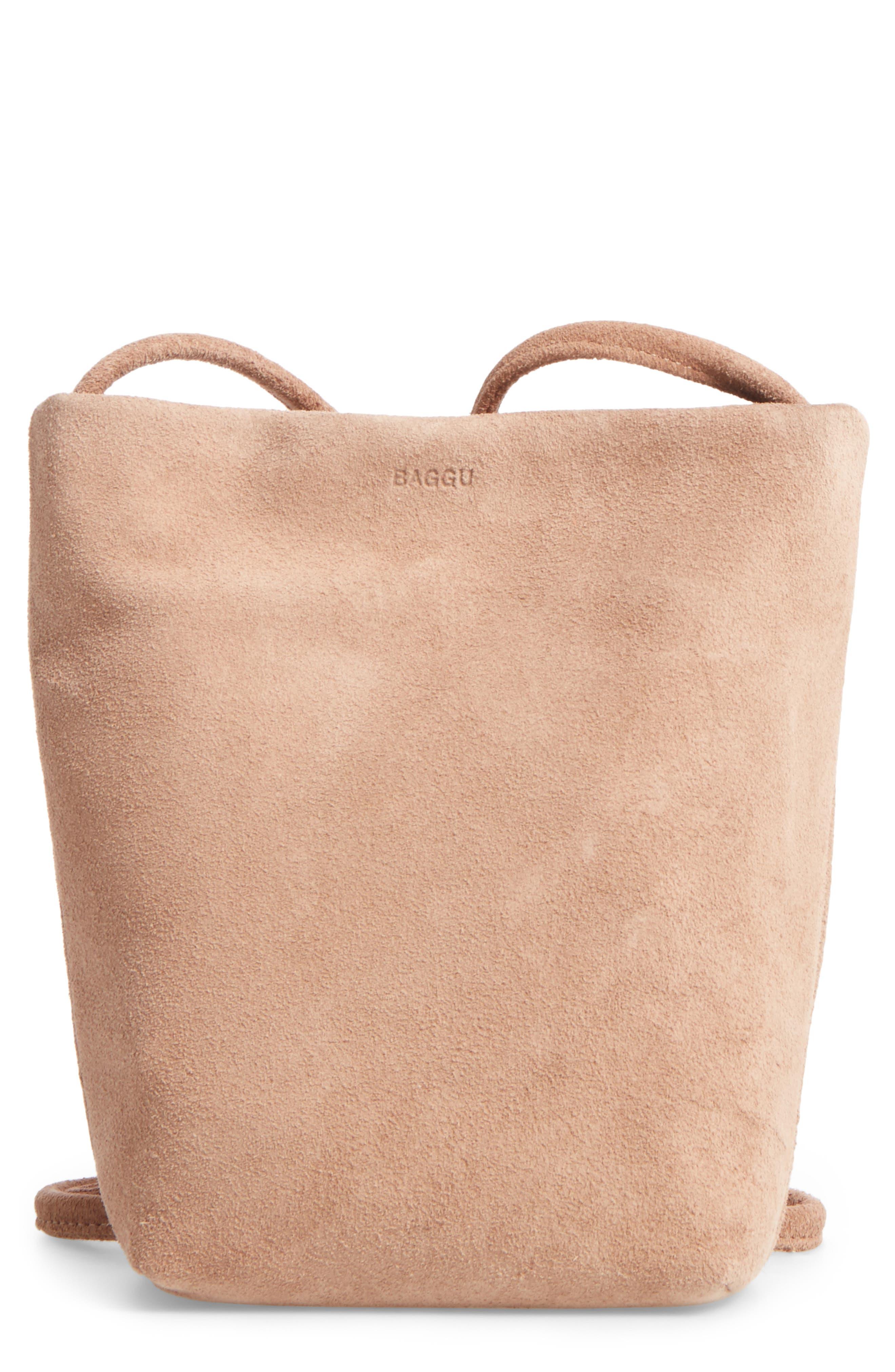 Alternate Image 1 Selected - Baggu Leather Crossbody Bag
