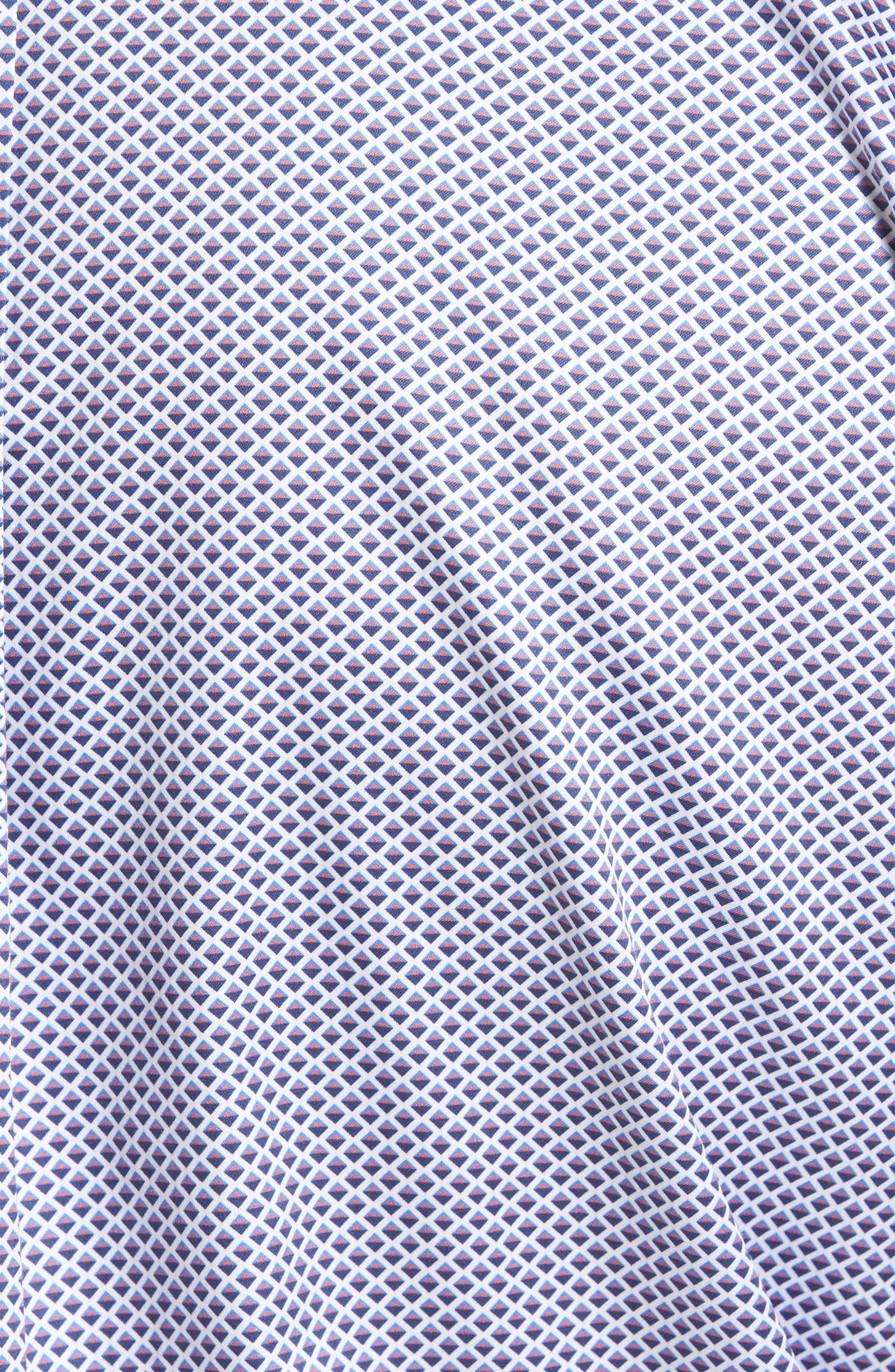 Geometric Horizon Sport Shirt,                             Alternate thumbnail 5, color,                             Fire Thorn