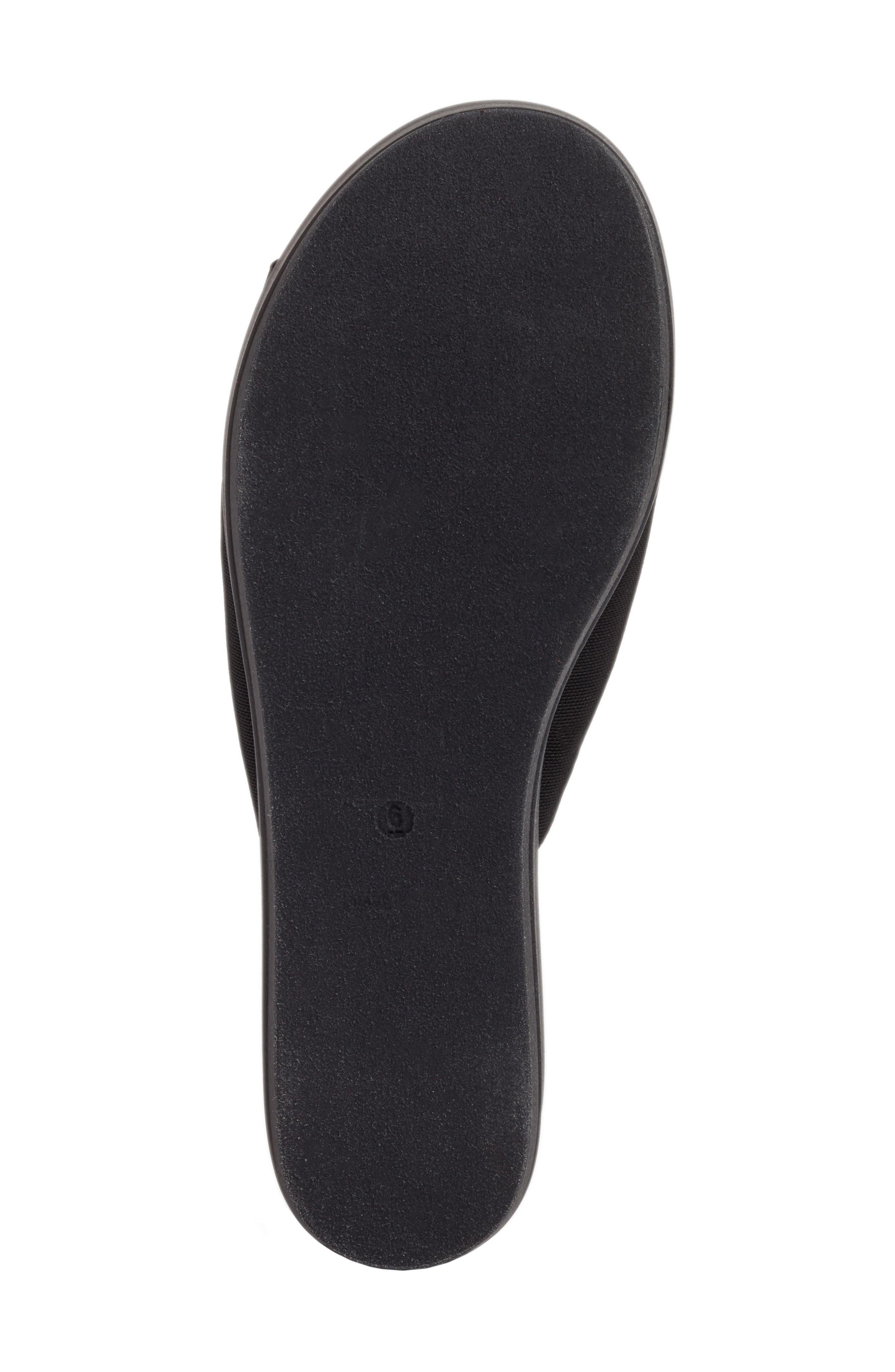 Slinky Platform Sandal,                             Alternate thumbnail 6, color,                             Black