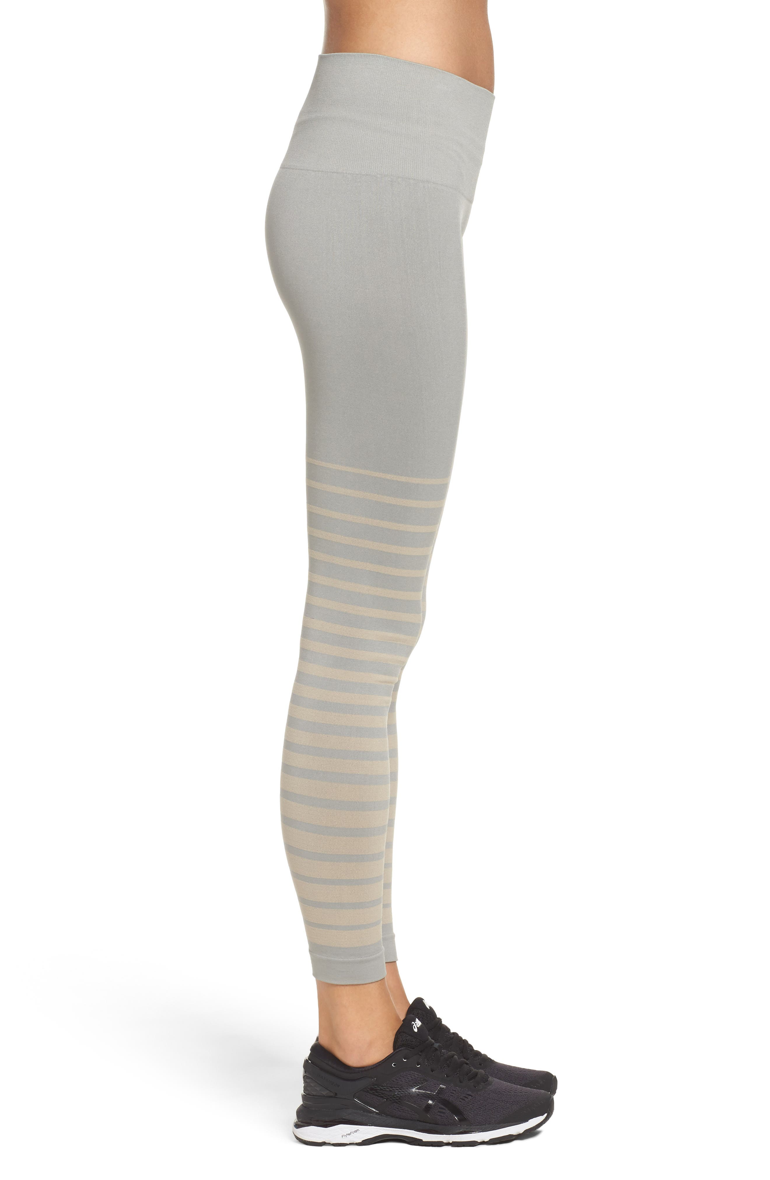 Front Runner High Waist Leggings,                             Alternate thumbnail 3, color,                             Wild Dove And Pink Tint