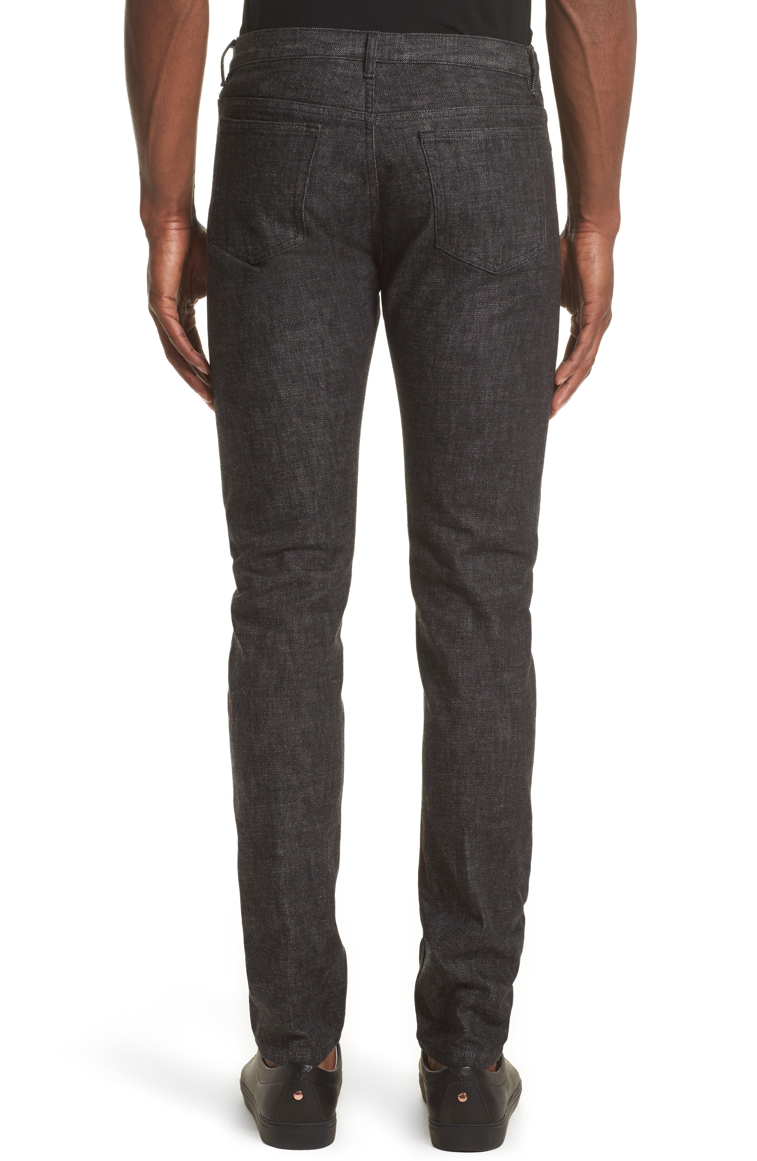 Petite New Standard Jeans,                             Alternate thumbnail 3, color,                             Faux Noir