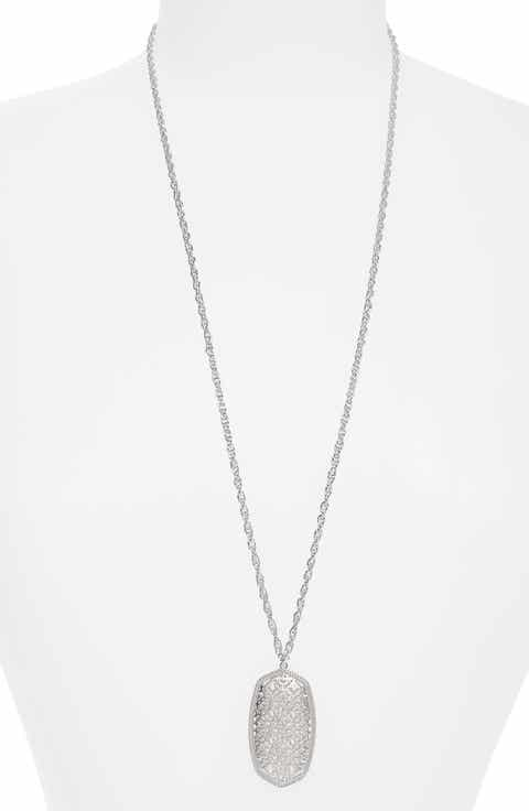 Womens necklaces nordstrom kendra scott rae long filigree pendant necklace aloadofball Images