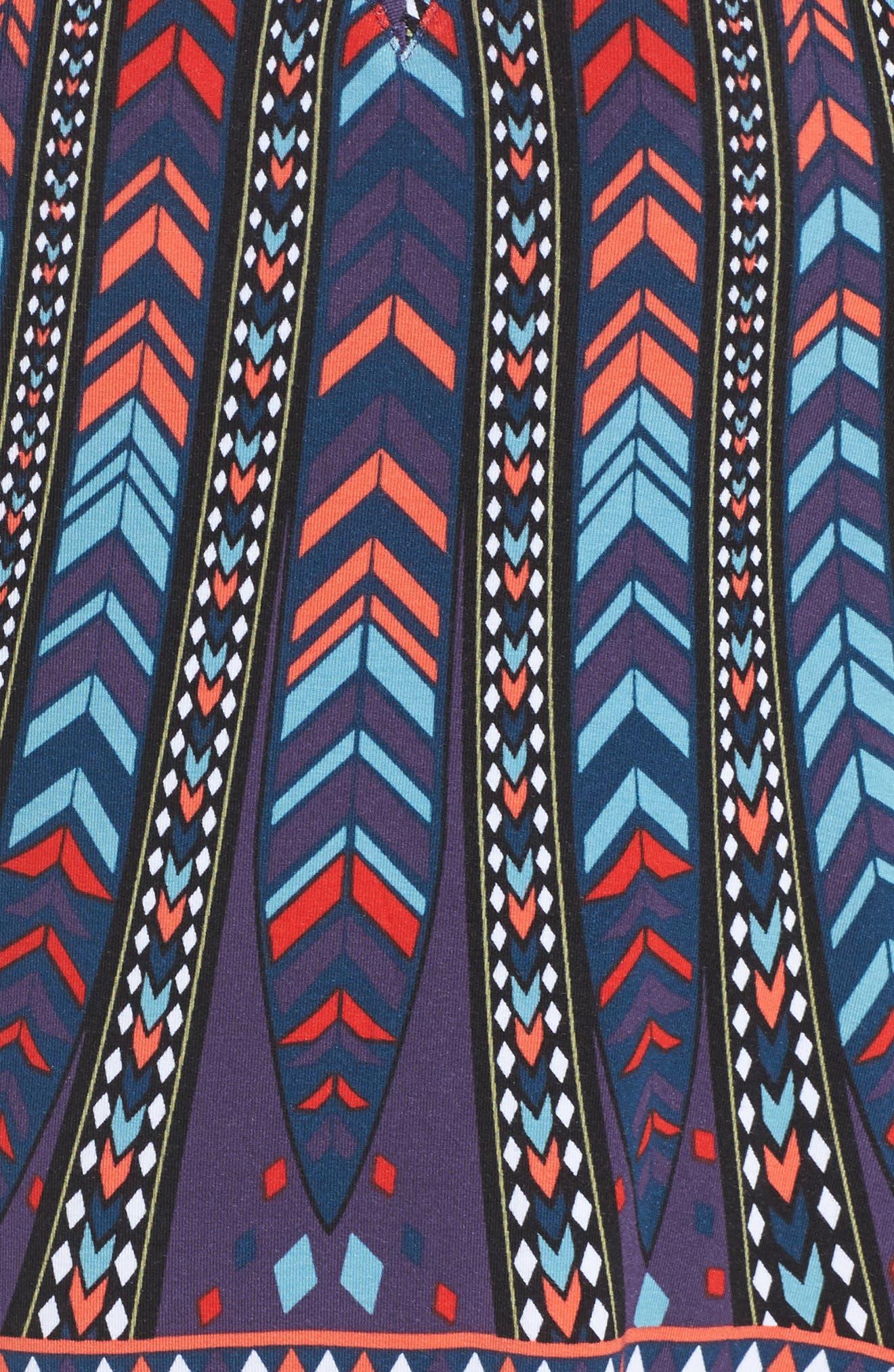 Emory Tassel Fringe Tank,                             Alternate thumbnail 5, color,                             Peacock Stripe
