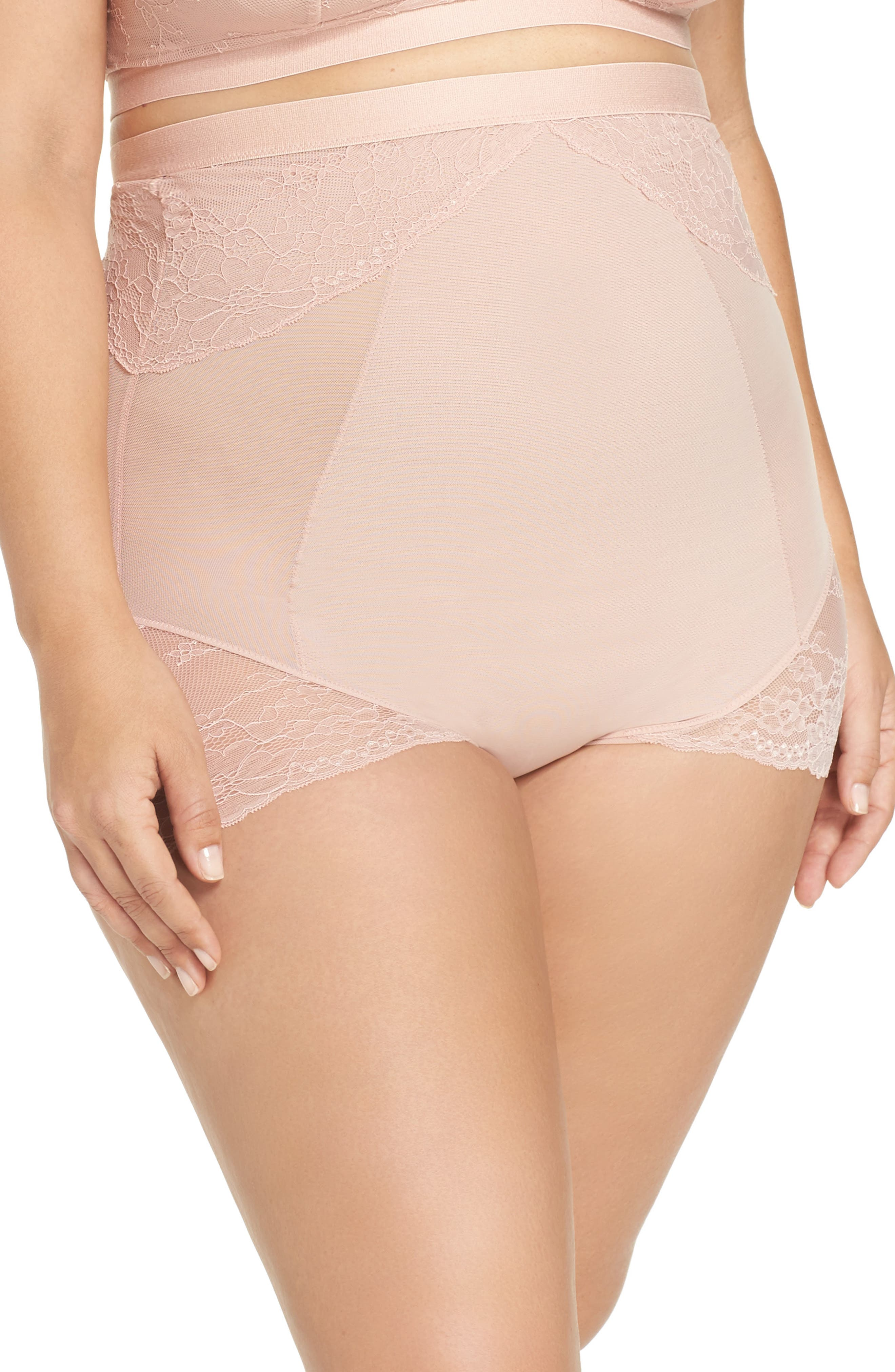 Alternate Image 1 Selected - SPANX® Spotlight On Lace High Waist Briefs (Plus Size)