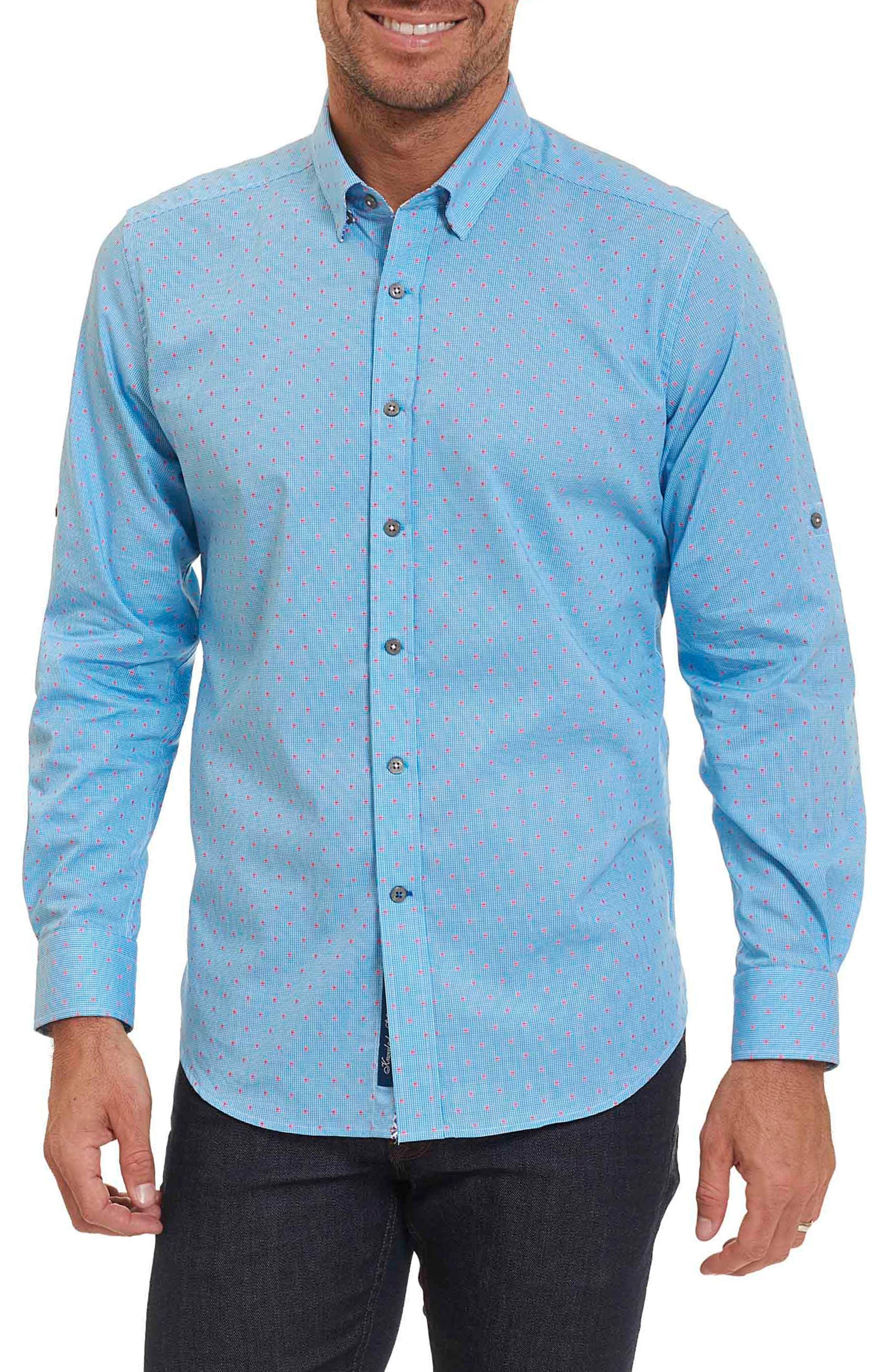 Carlos Tailored Fit Sport Shirt,                         Main,                         color, Teal