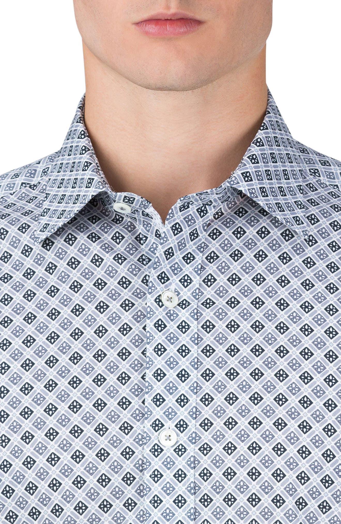Shaped Fit Sport Shirt,                             Alternate thumbnail 2, color,                             Platinum