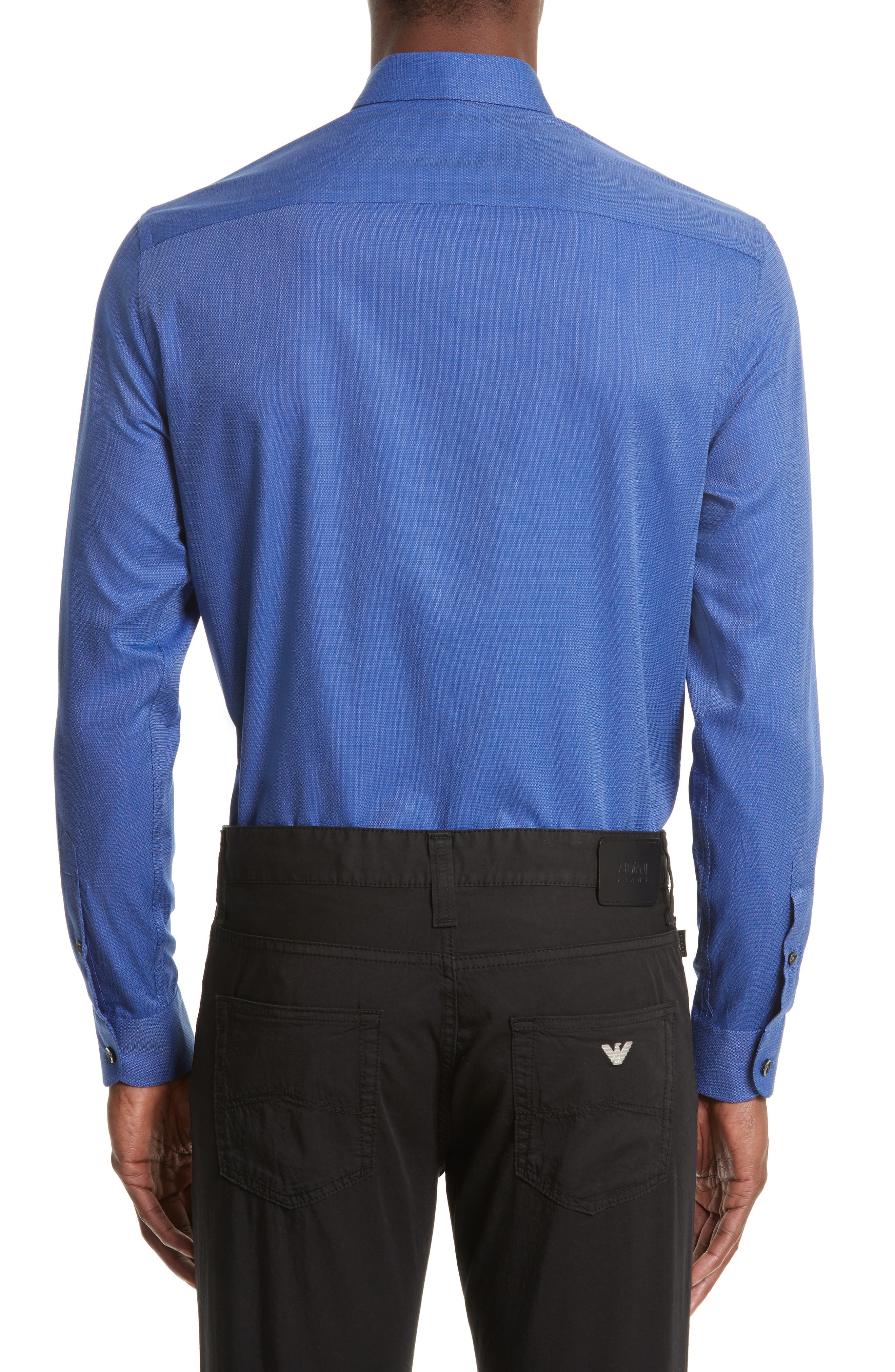 Alternate Image 3  - Armani Collezioni Regular Fit Woven Sport Shirt