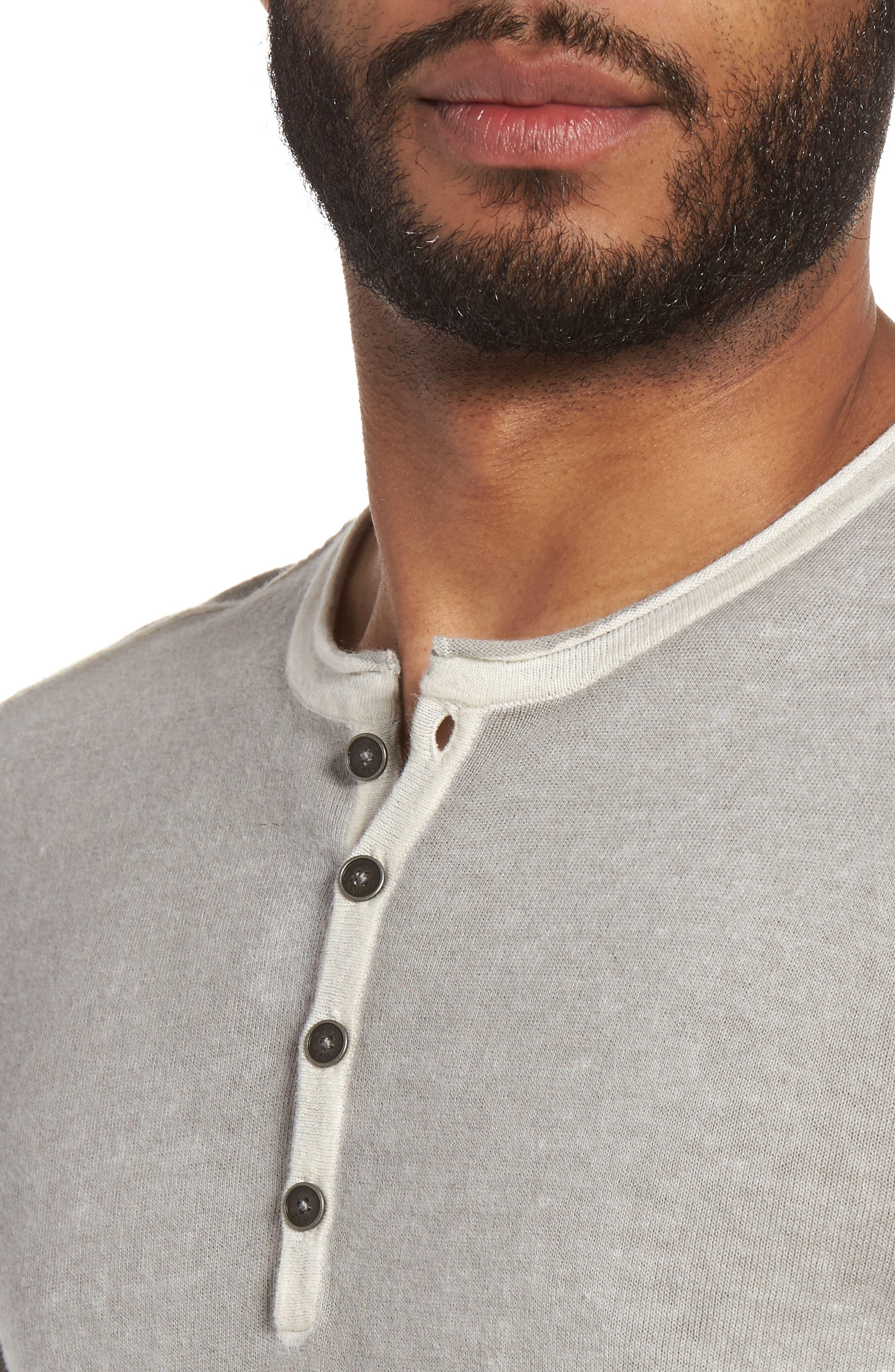 Alternate Image 4  - John Varvatos Star USA Henley Sweater
