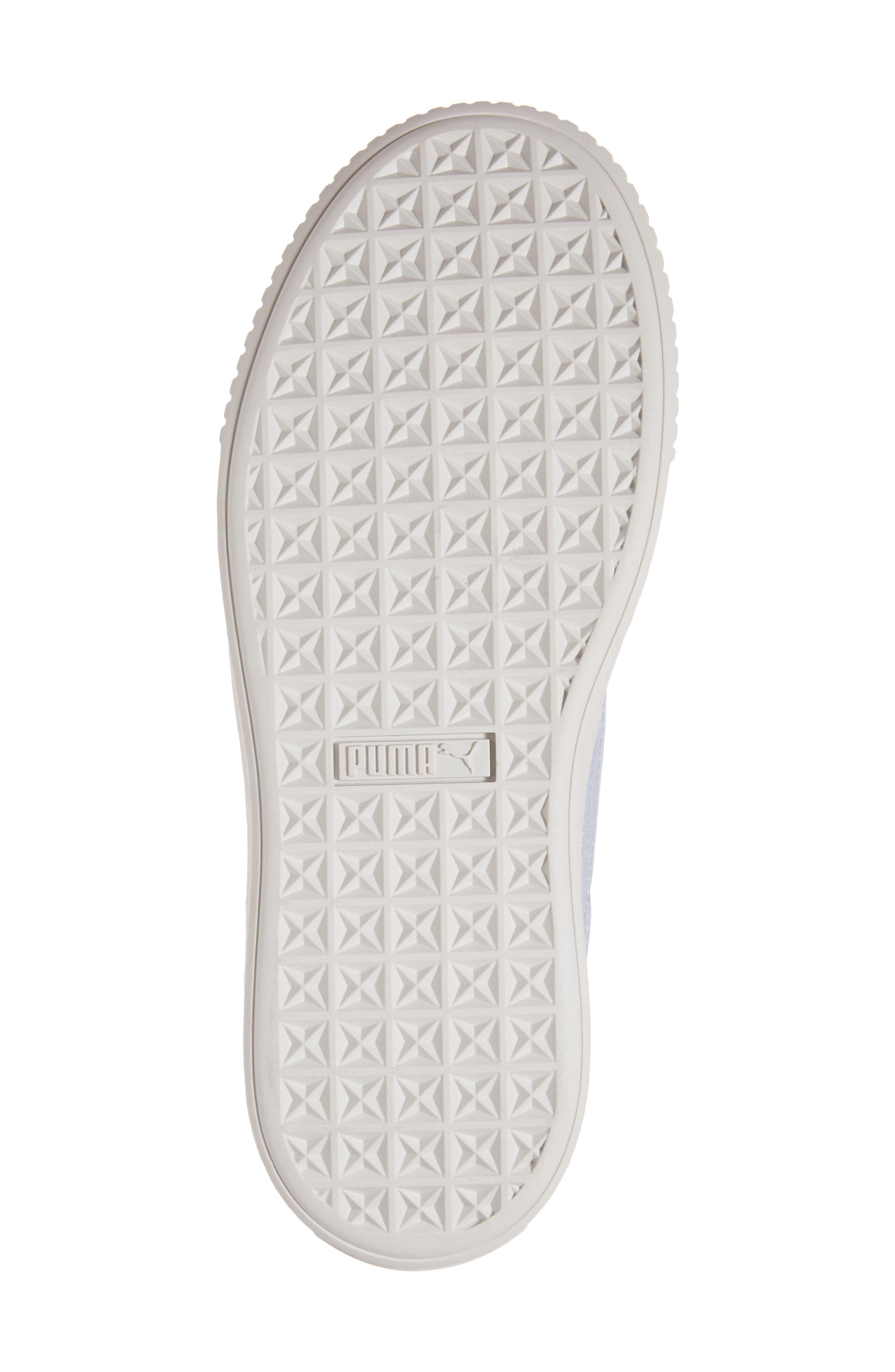 Basket Platform Sneaker,                             Alternate thumbnail 6, color,                             Halogen Blue/ Halogen Blue