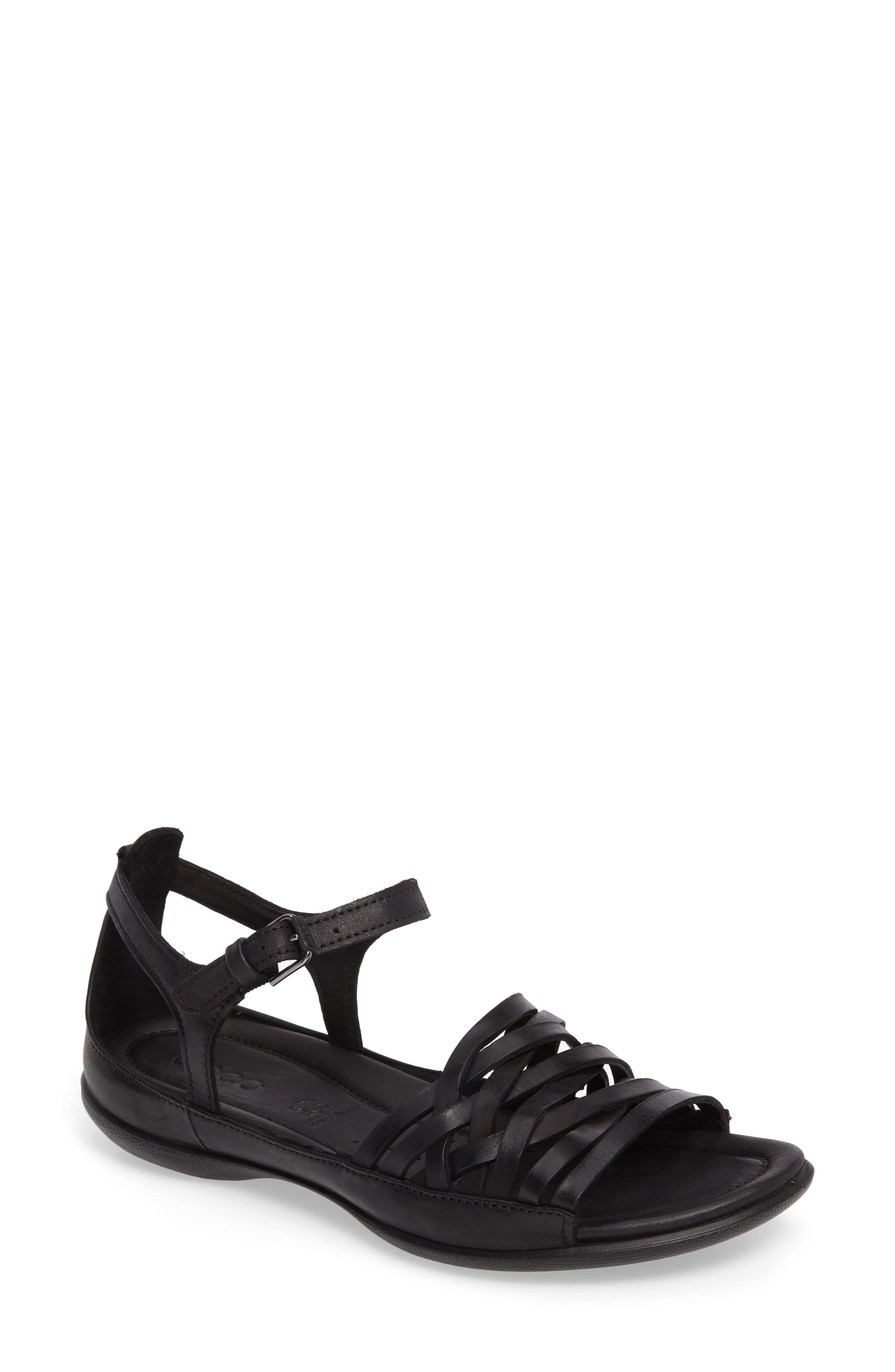 Flash Sandal,                         Main,                         color, Black Leather