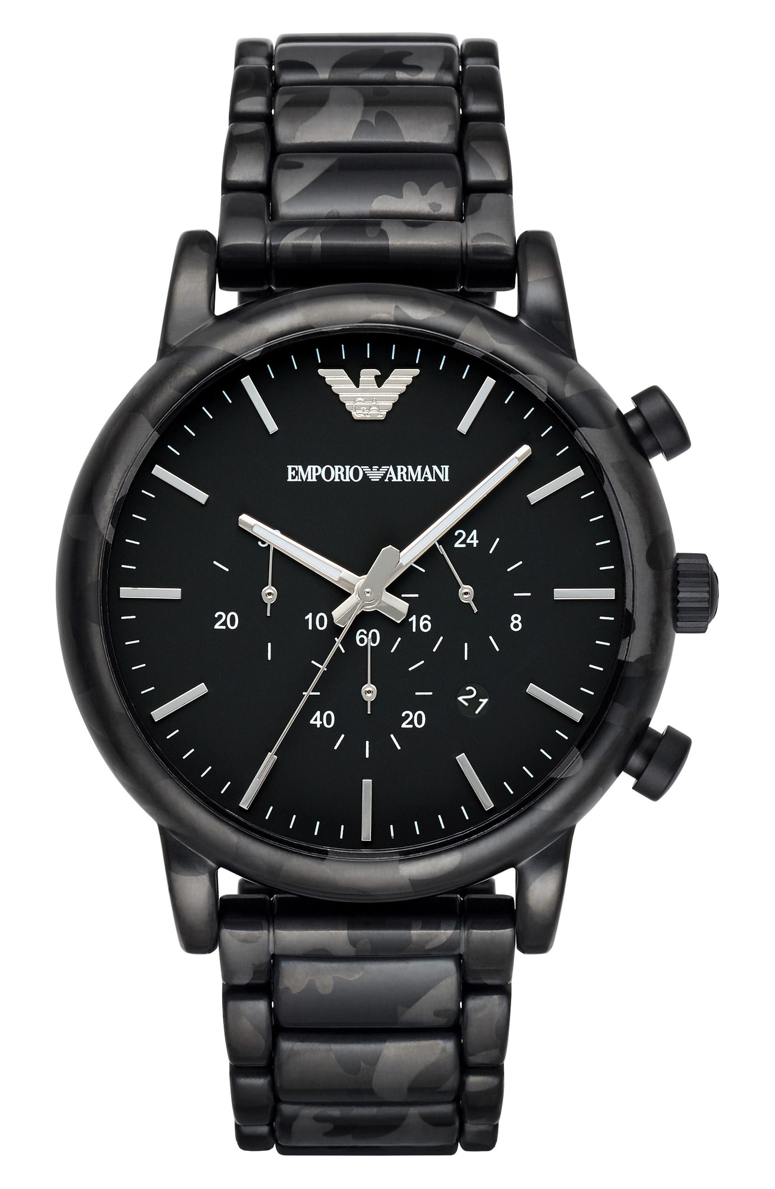 Main Image - Emporio Armani Chronograph Bracelet Watch, 46mm