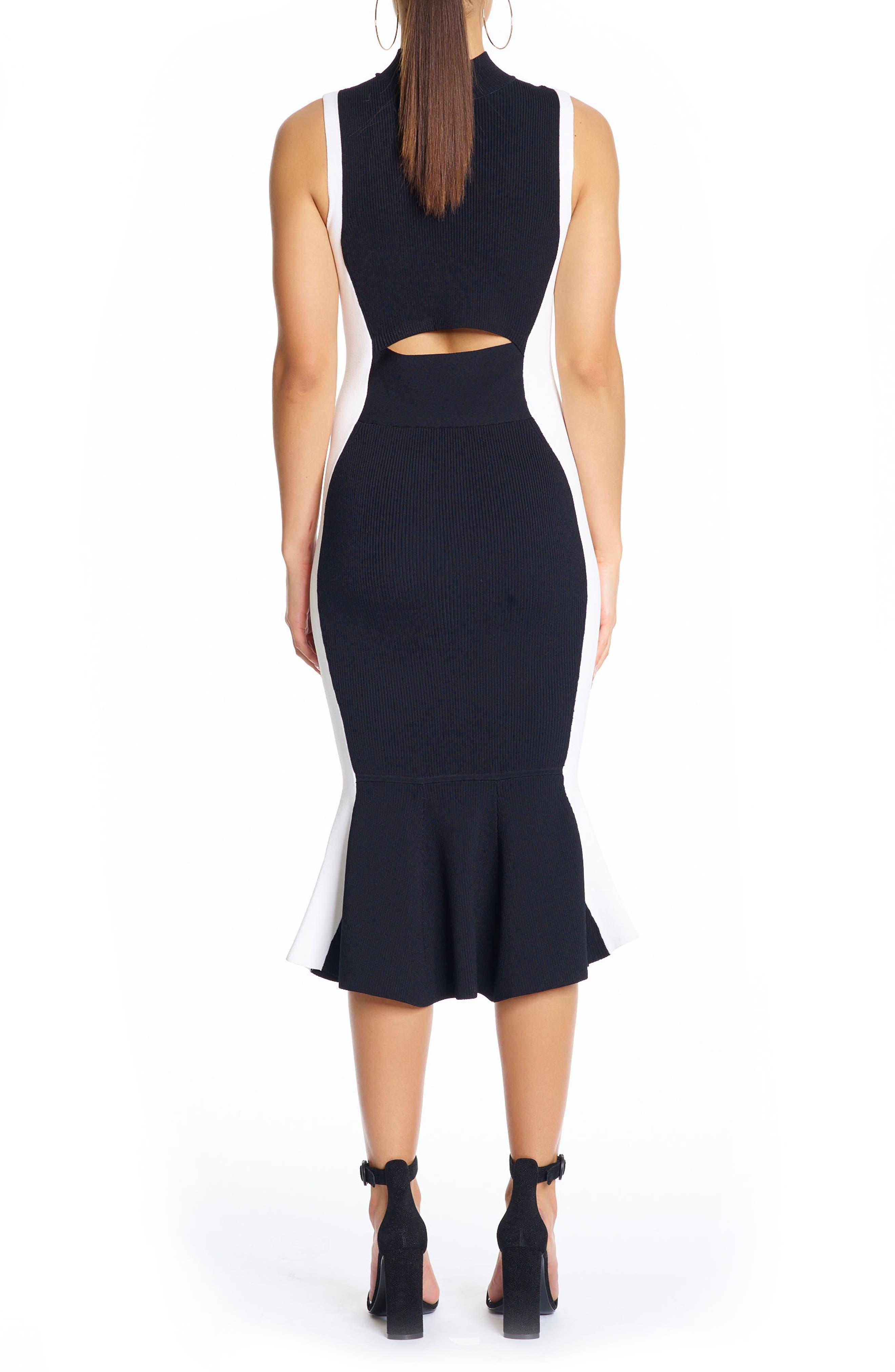 Alternate Image 2  - KENDALL + KYLIE Illusion Peplum Dress
