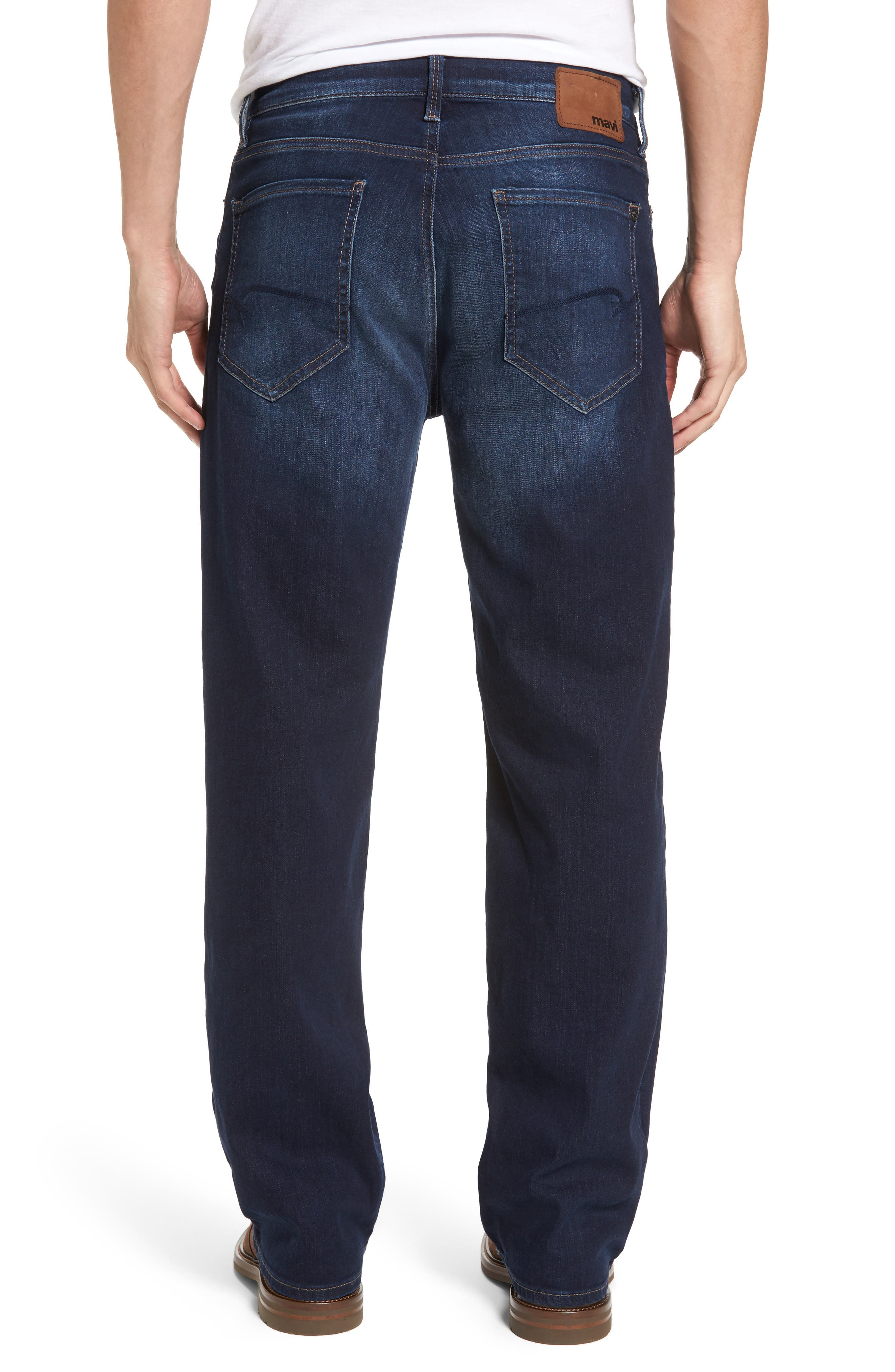'Max' Relaxed Fit Jeans,                             Alternate thumbnail 2, color,                             Dark Williamsburg