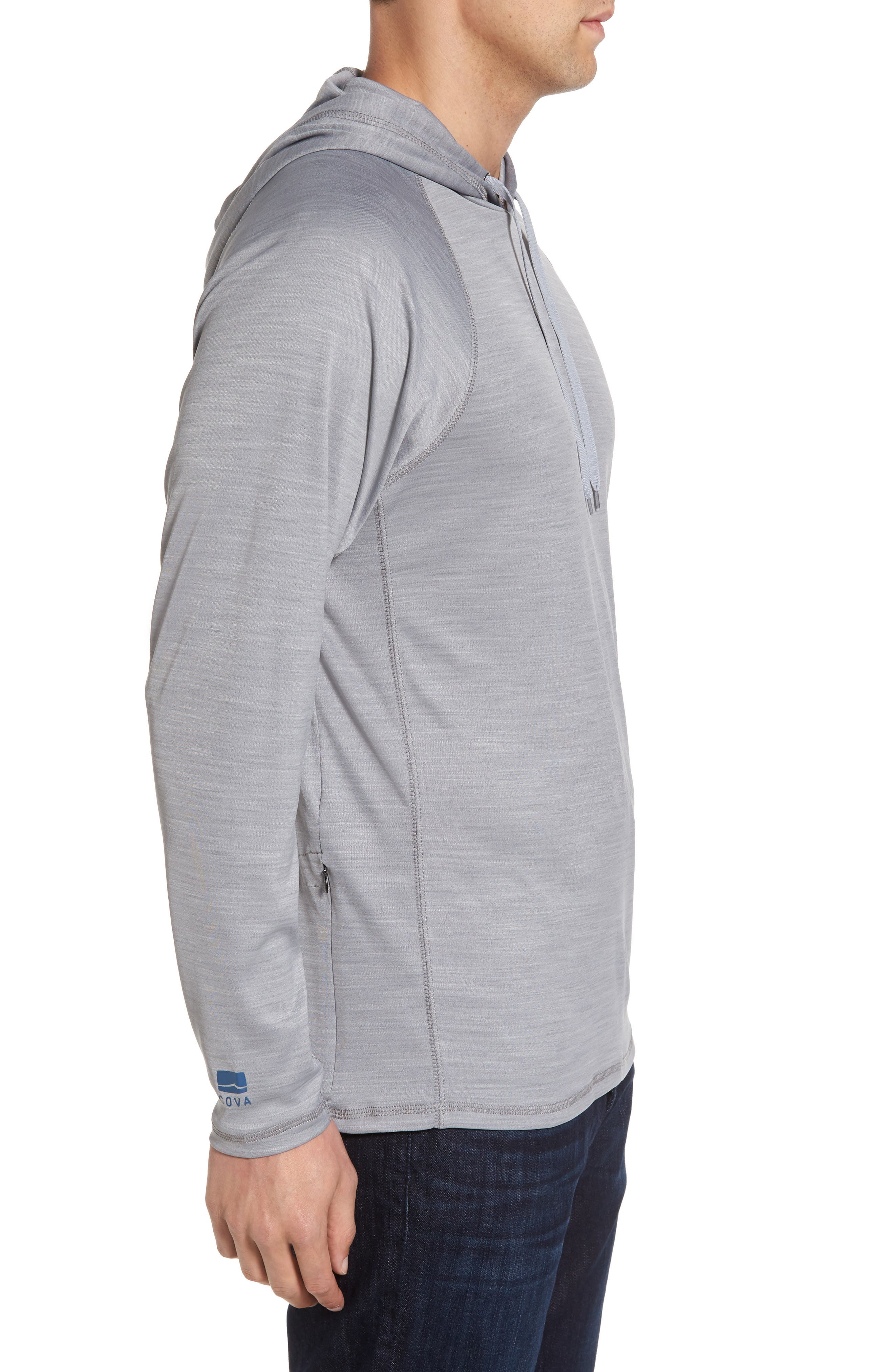 Alternate Image 3  - Cova Undercover Hooded Long Sleeve Performance T-Shirt
