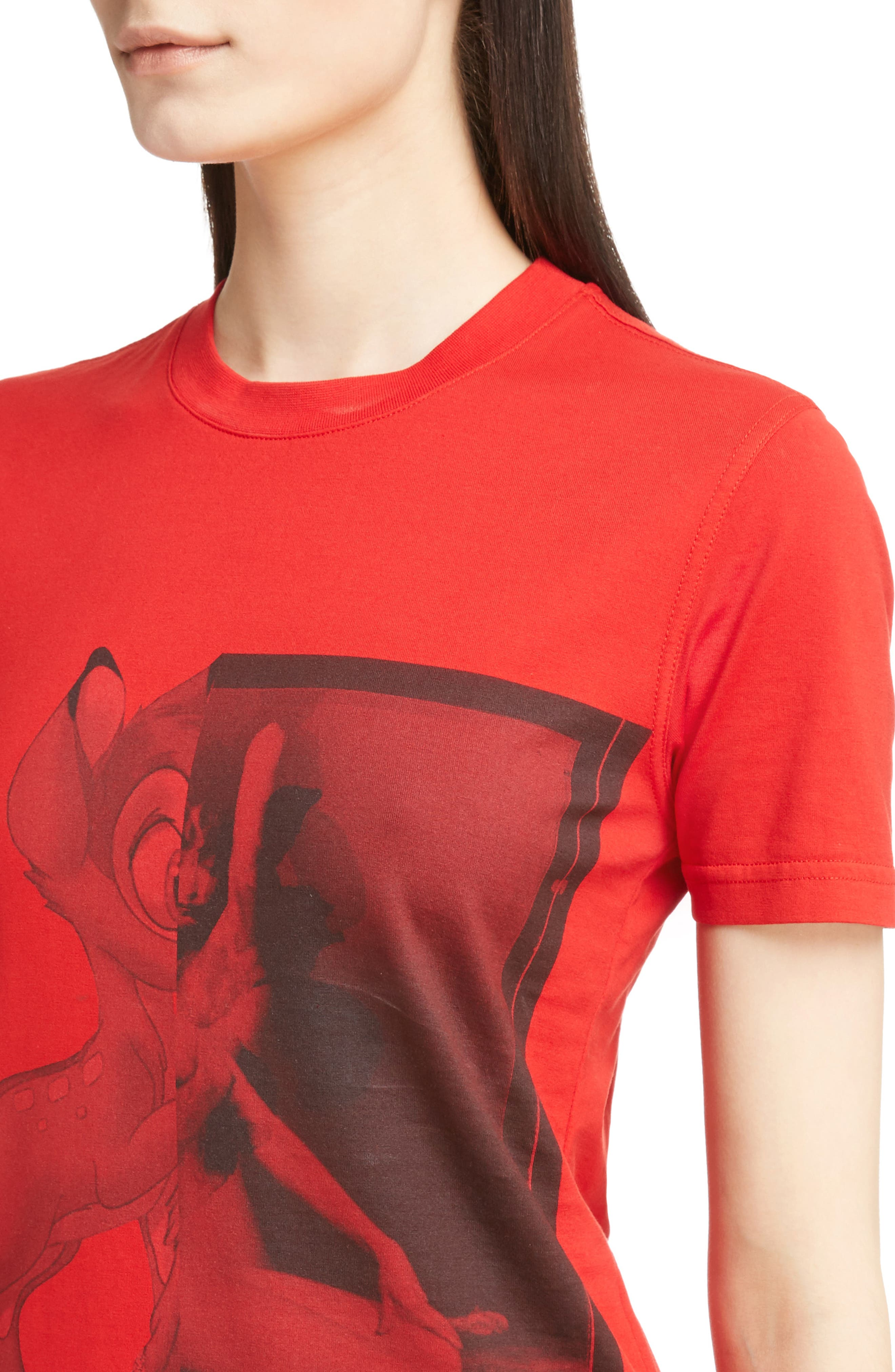 Bambi Cotton Tee,                             Alternate thumbnail 4, color,                             Red