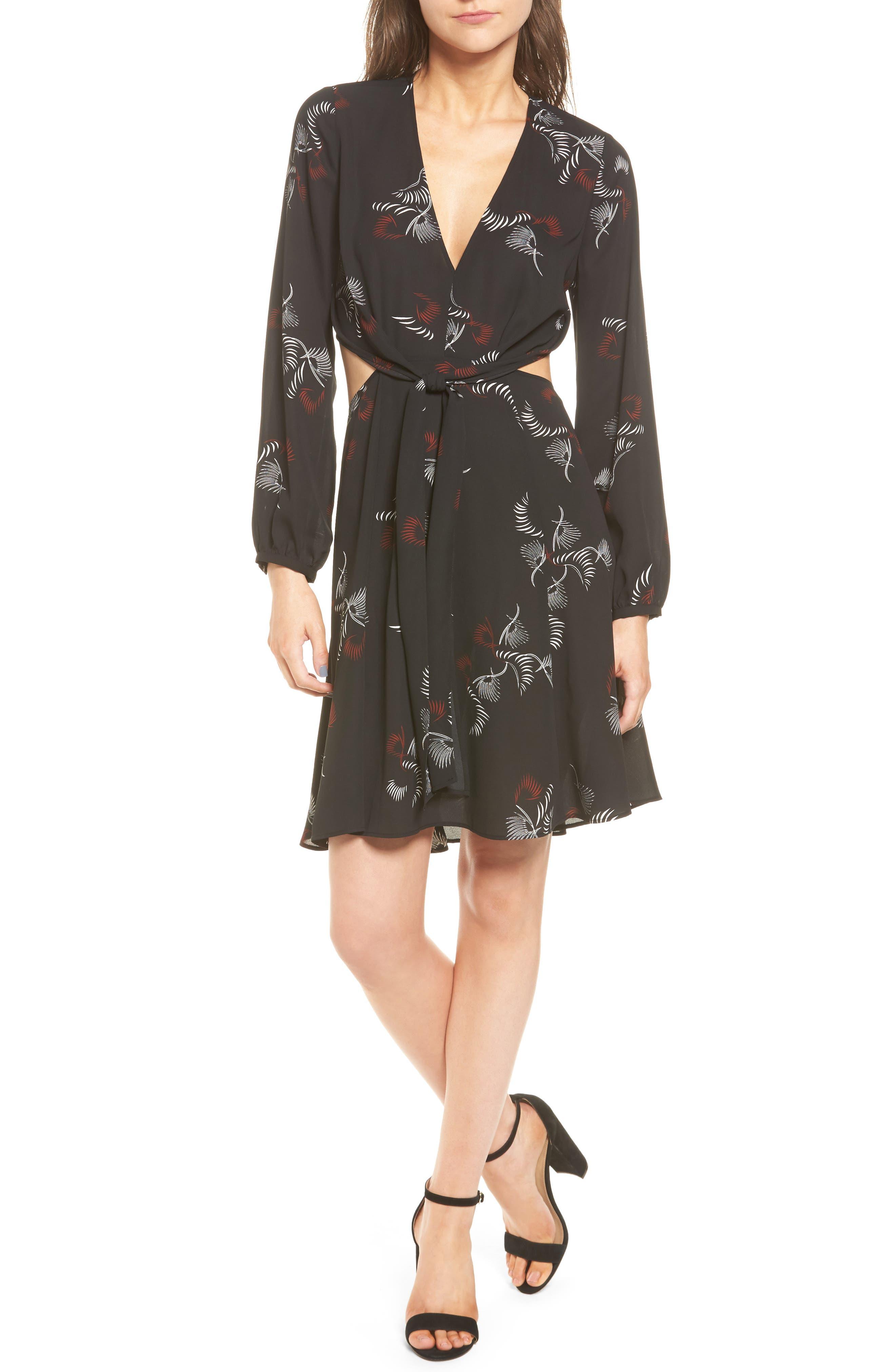Trouvé Cutout A-Line Dress