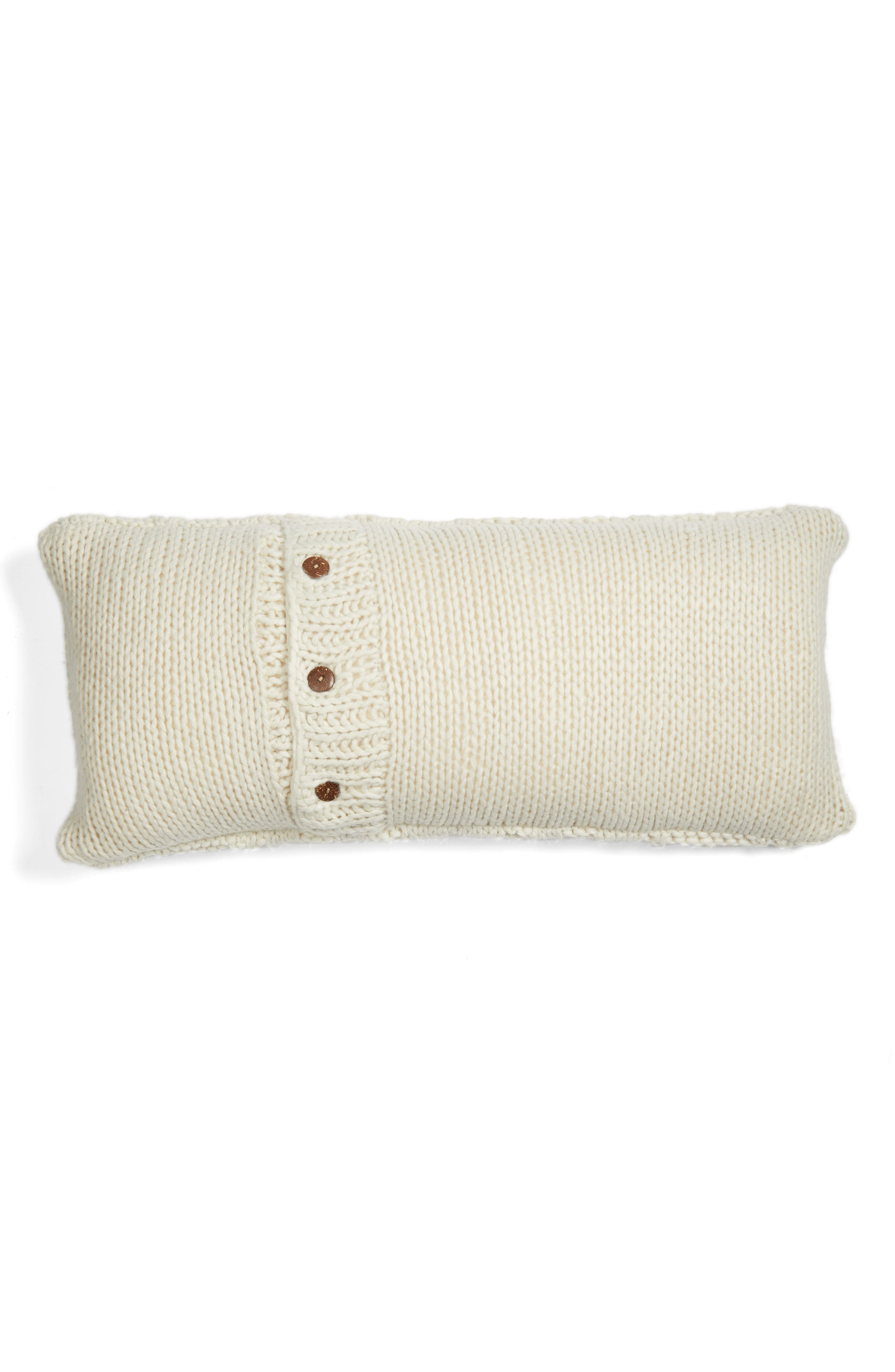Cable Knit Accent Pillow,                             Main thumbnail 1, color,                             Ivory Dove