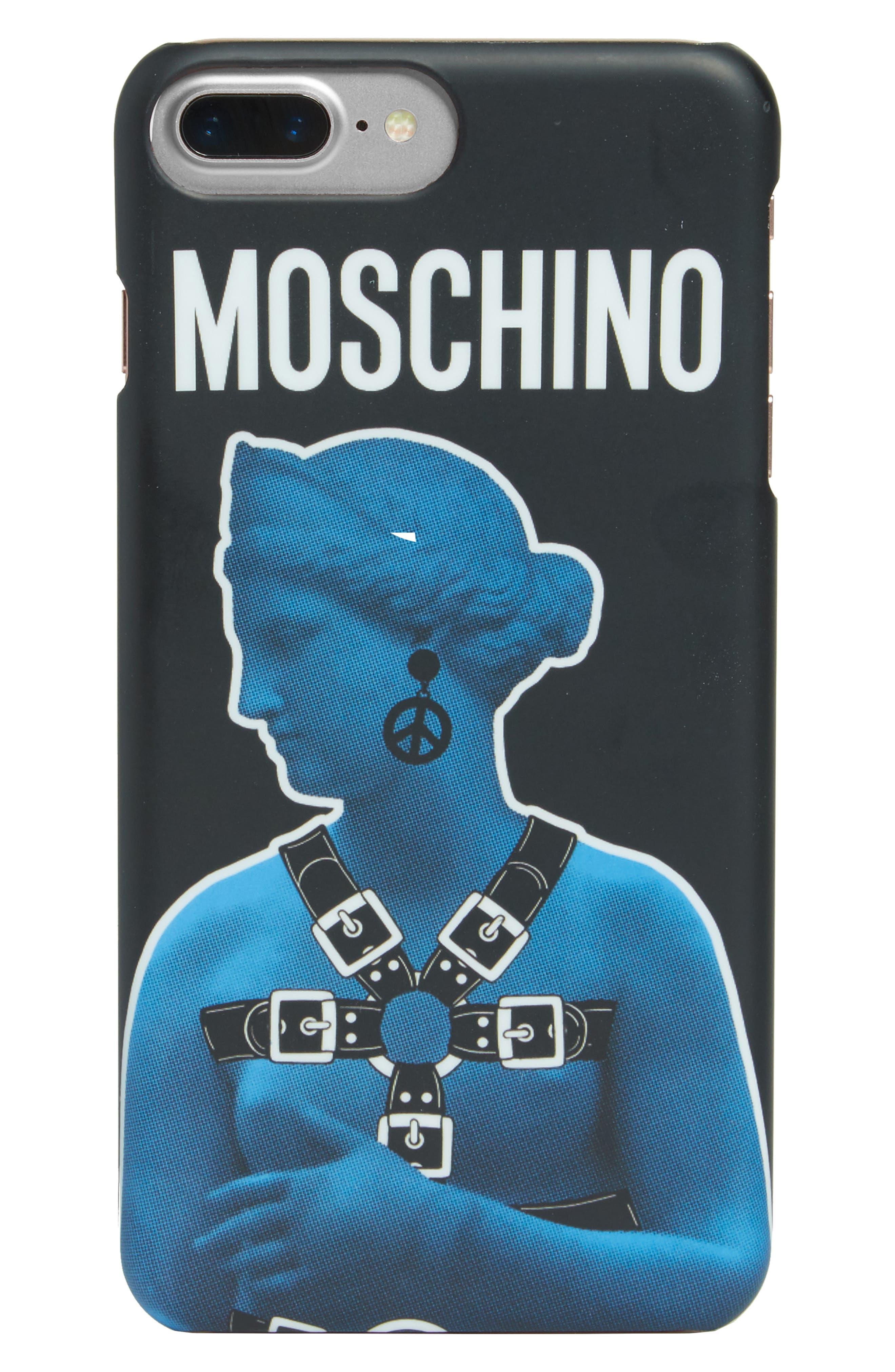 Statue Graphic iPhone 6/6s/7 Case,                         Main,                         color, Black Multi
