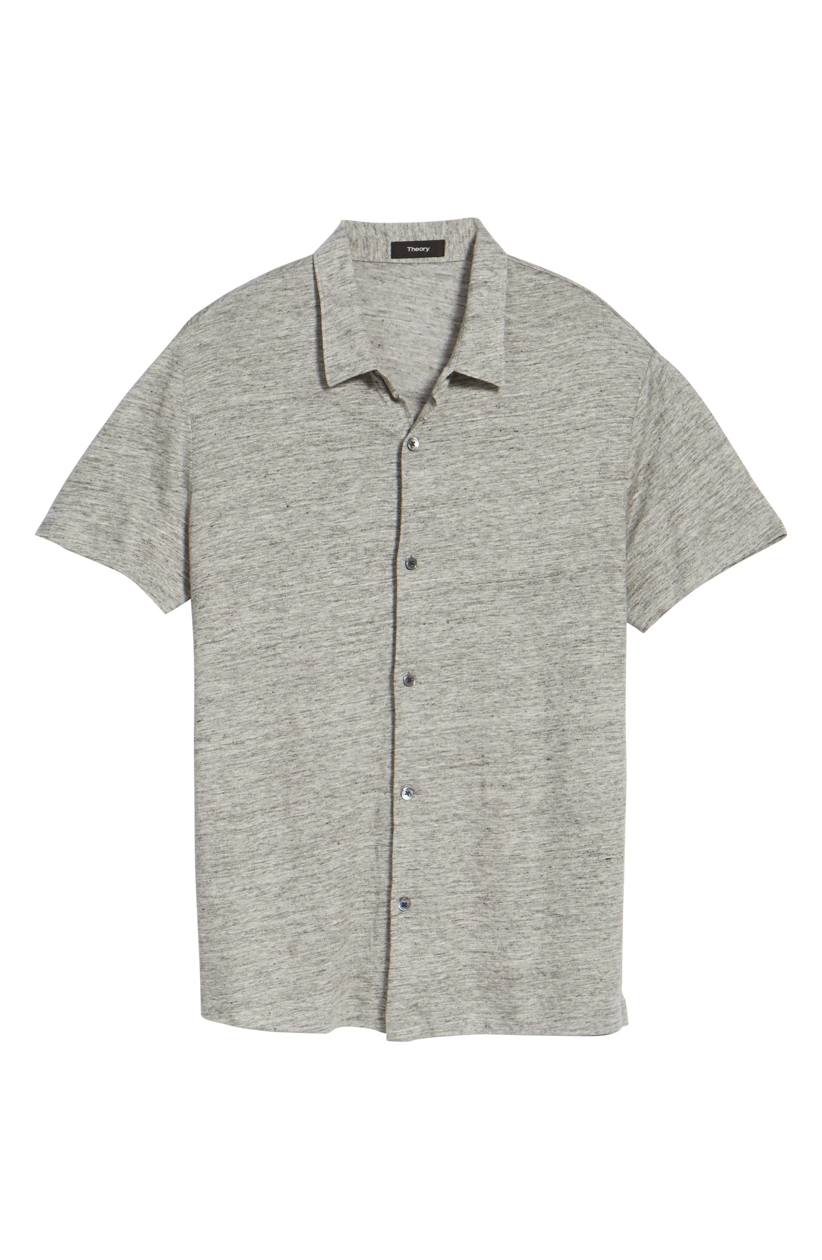 Alternate Image 5  - Theory Linen Knit Sport Shirt