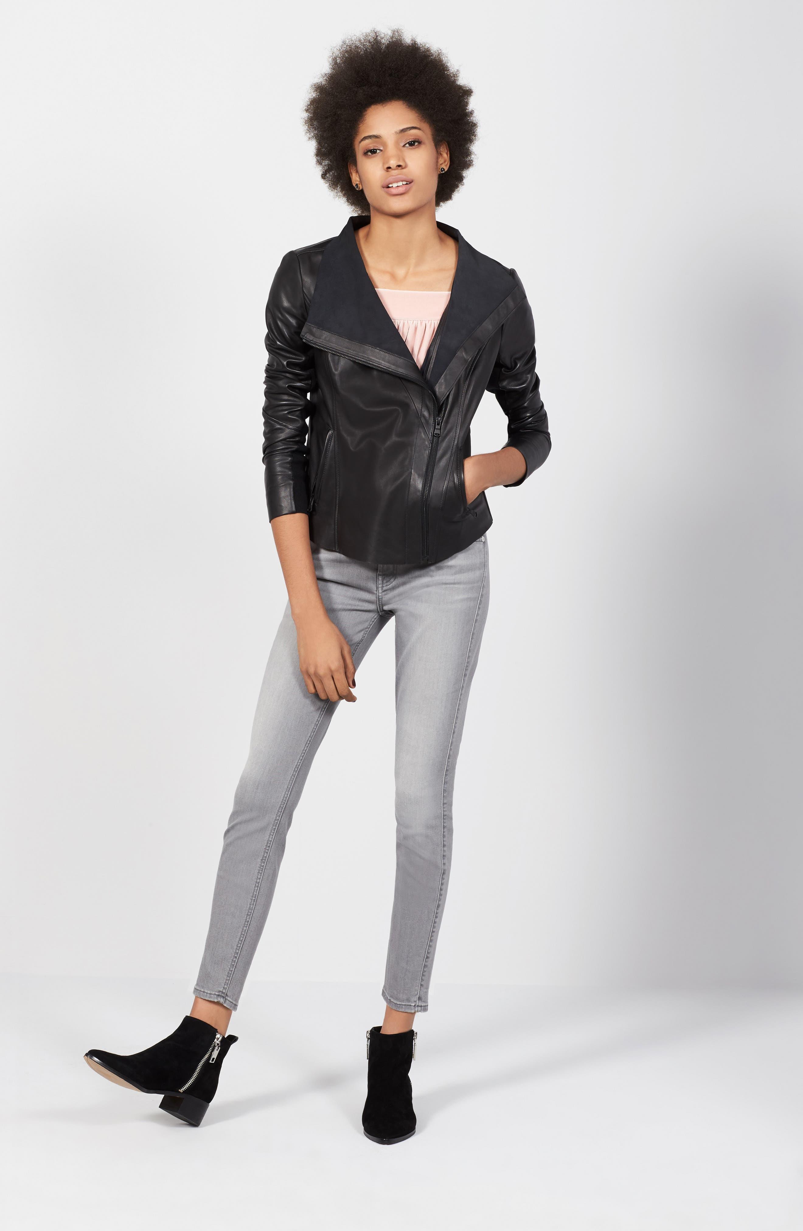 Alternate Image 2  - Trouvé Raw Edge Leather Jacket