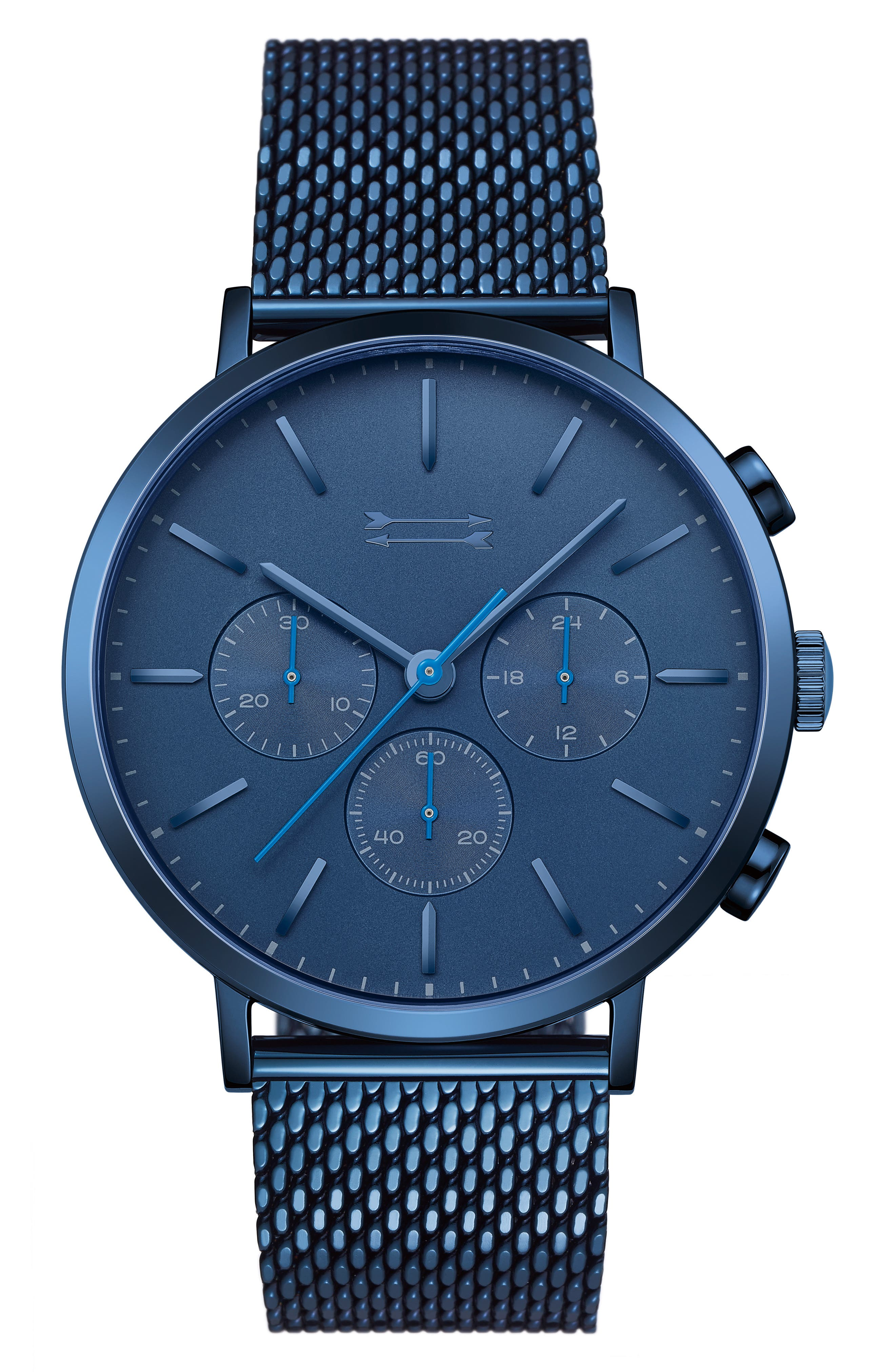 Griffith Mesh Strap Watch, 43mm,                         Main,                         color, Blue