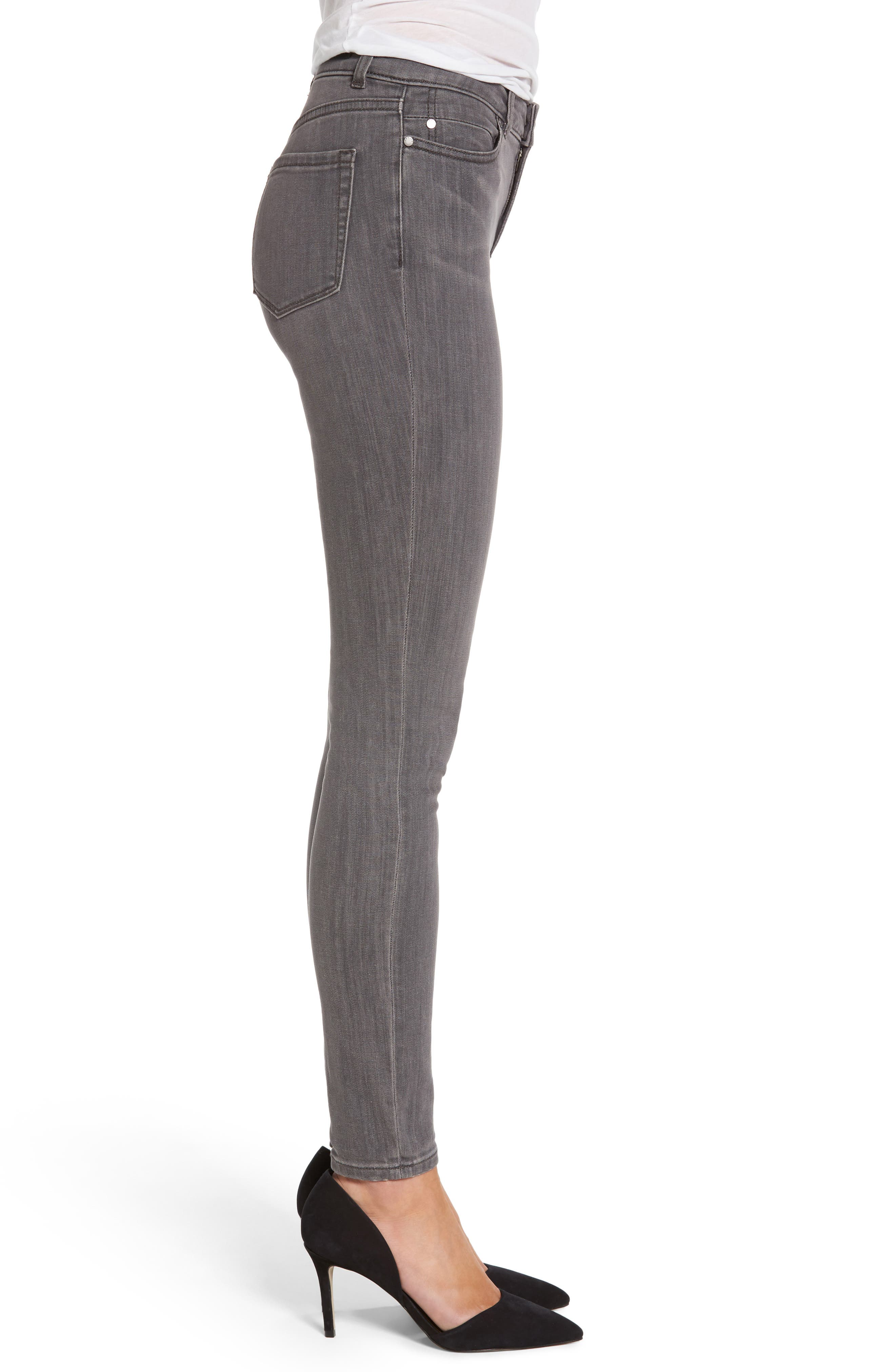 Stretch Skinny Jeans,                             Alternate thumbnail 3, color,                             Grey Adoria Wash